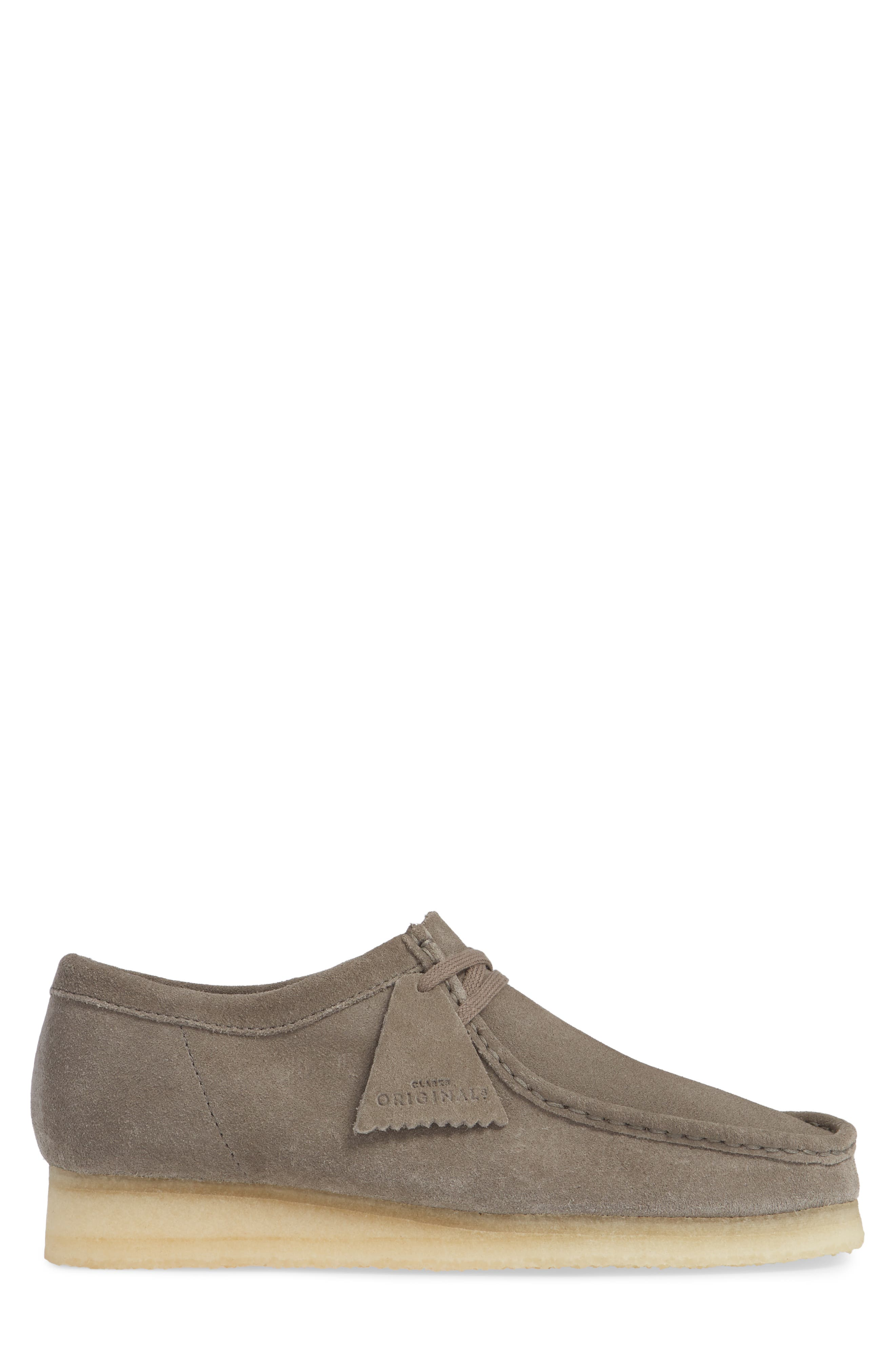 'Wallabee' Moc Toe Derby,                             Alternate thumbnail 3, color,                             GREY LEATHER