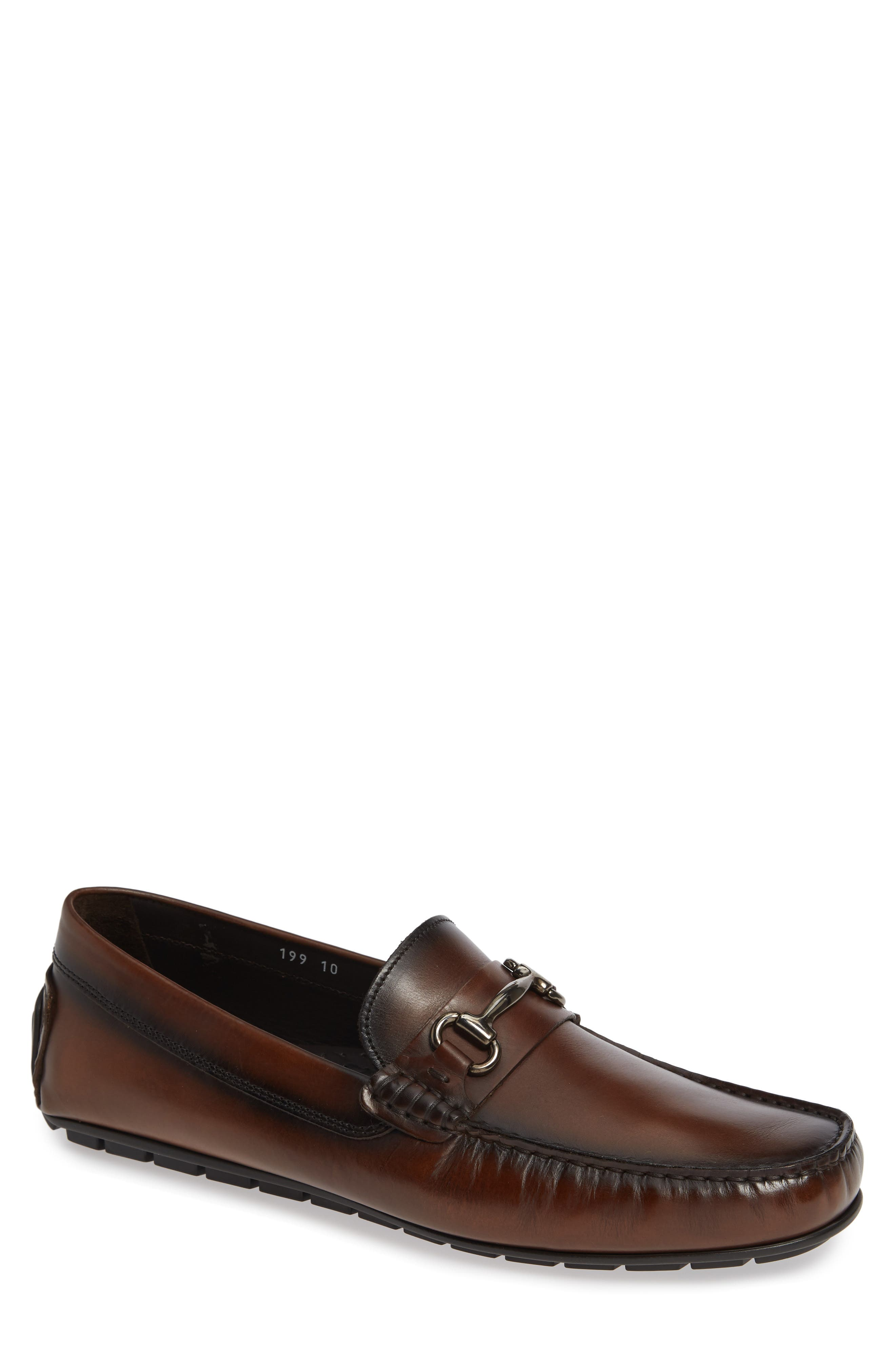 Del Amo Driving Shoe,                         Main,                         color, BROWN LEATHER