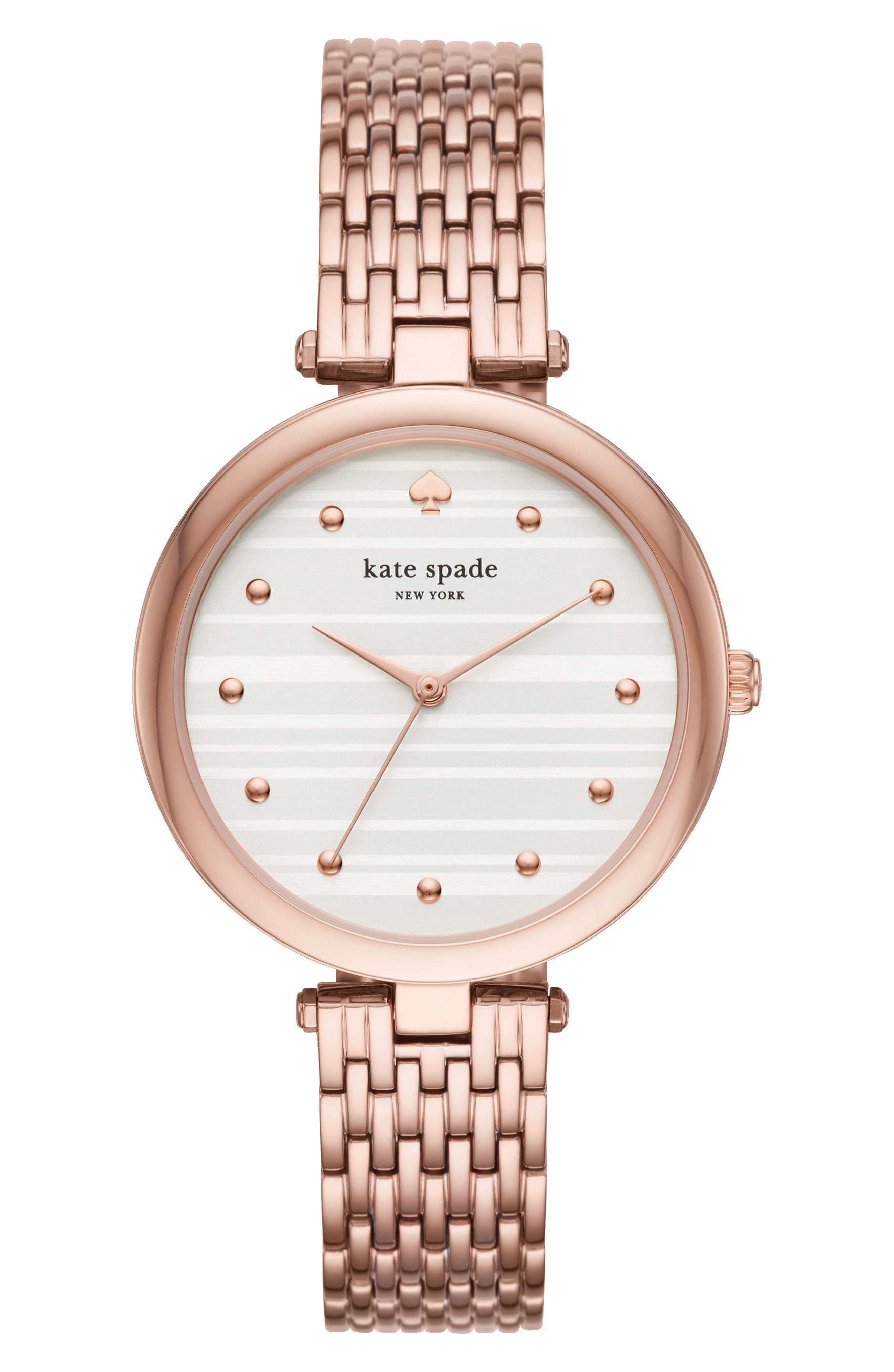 varick bracelet watch, 36mm,                             Main thumbnail 1, color,                             PINK/ SILVER/ PINK