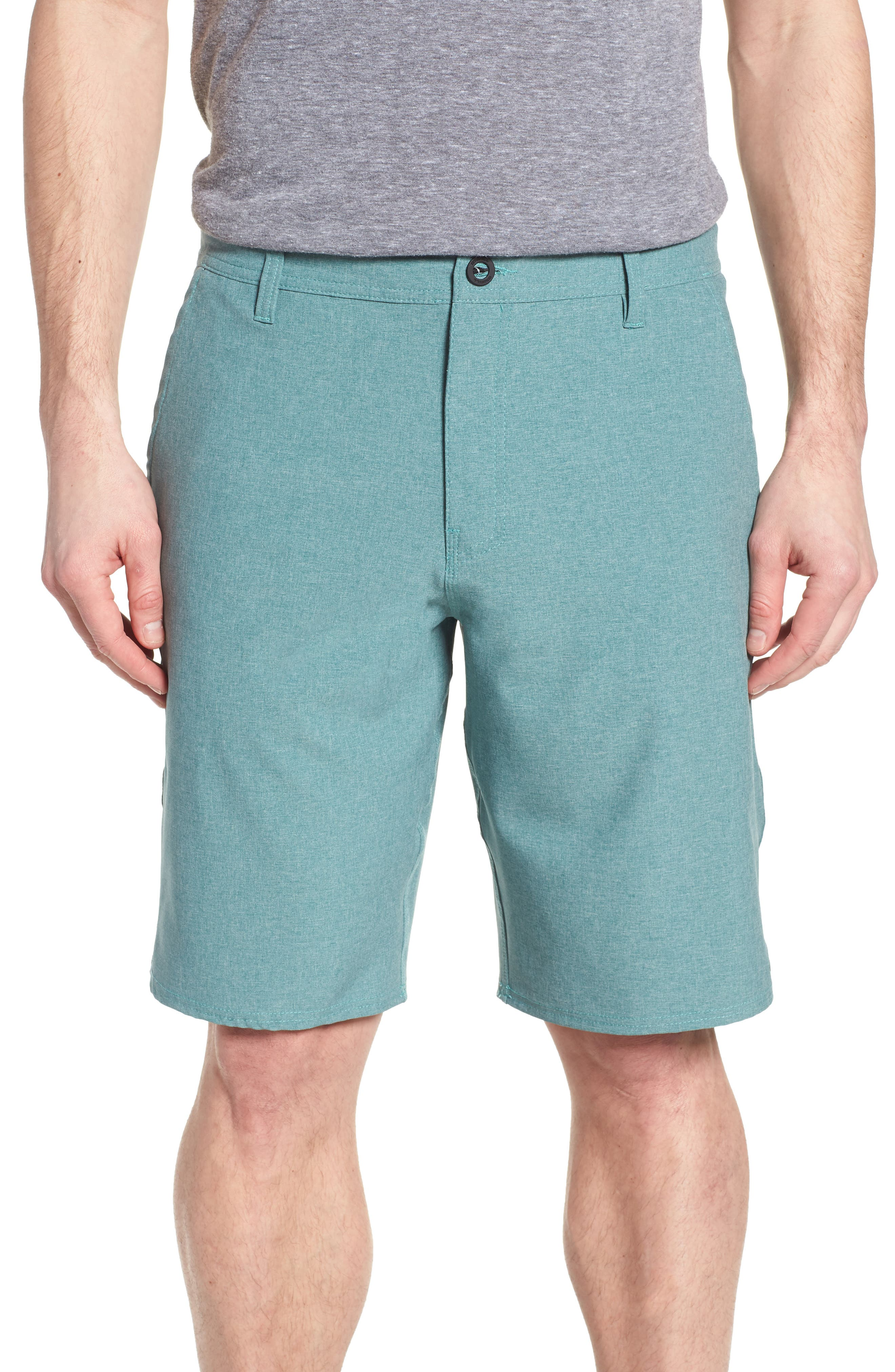 Loaded Heather Hybrid Shorts,                             Main thumbnail 1, color,                             300