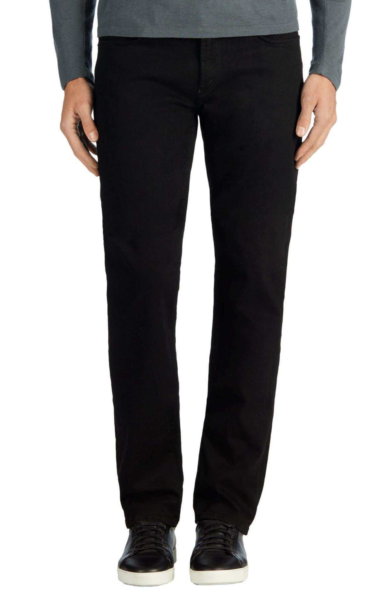 Kane Slim Straight Leg Jeans,                             Alternate thumbnail 2, color,                             TRIVOR BLACK