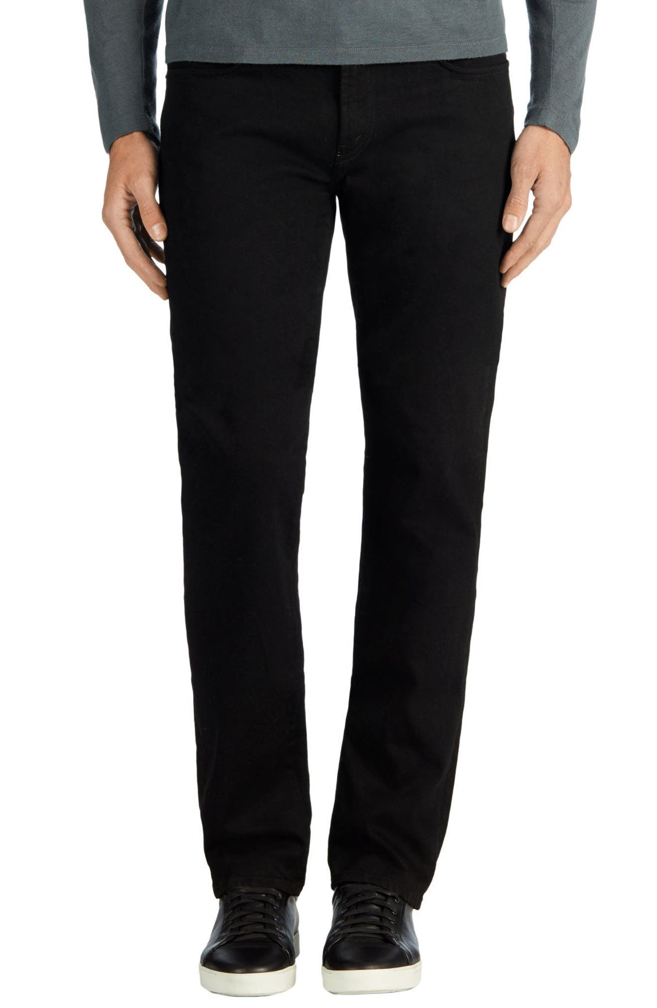 J BRAND Kane Slim Straight Leg Jeans, Main, color, TRIVOR BLACK