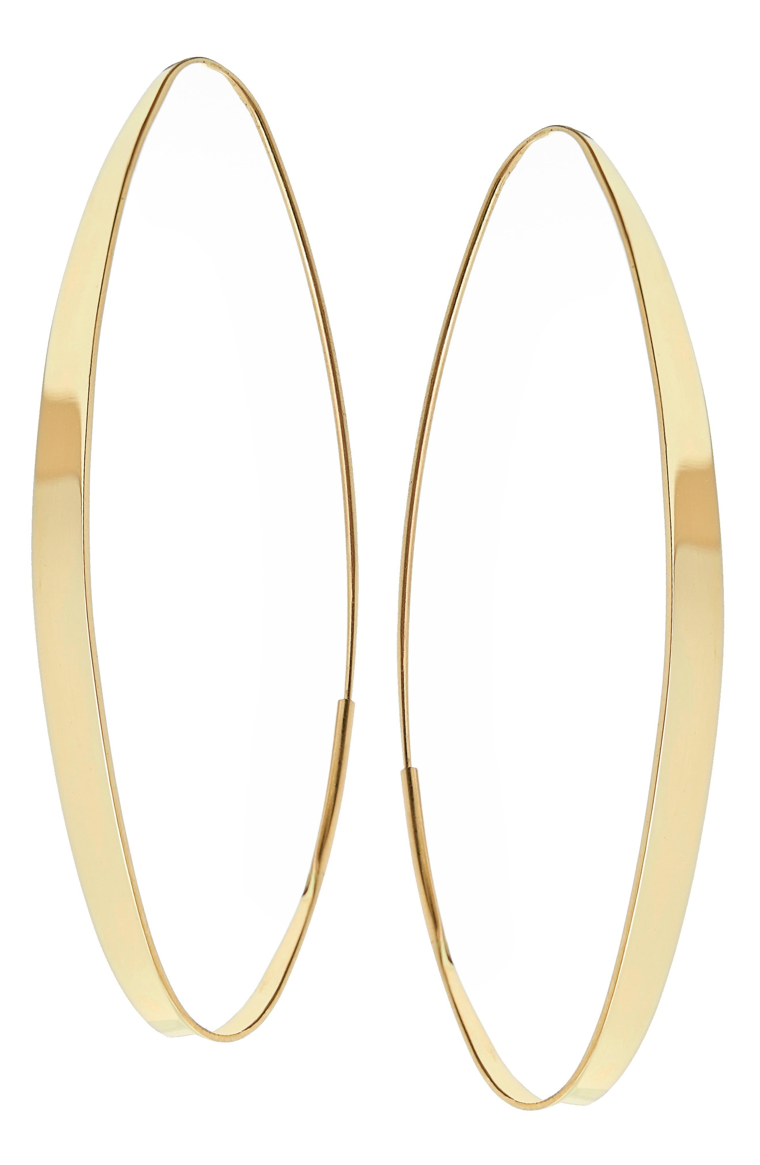 Large Narrow Gloss Magic Hoops,                         Main,                         color, 700