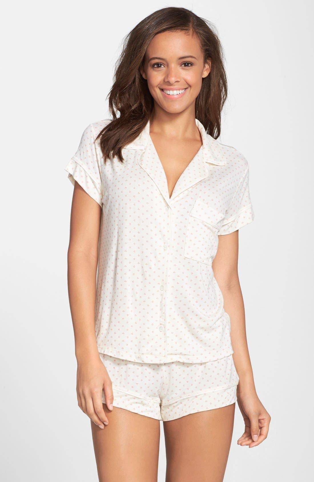 'Open Hearted' Jersey Shorts Pajamas,                             Main thumbnail 1, color,                             279