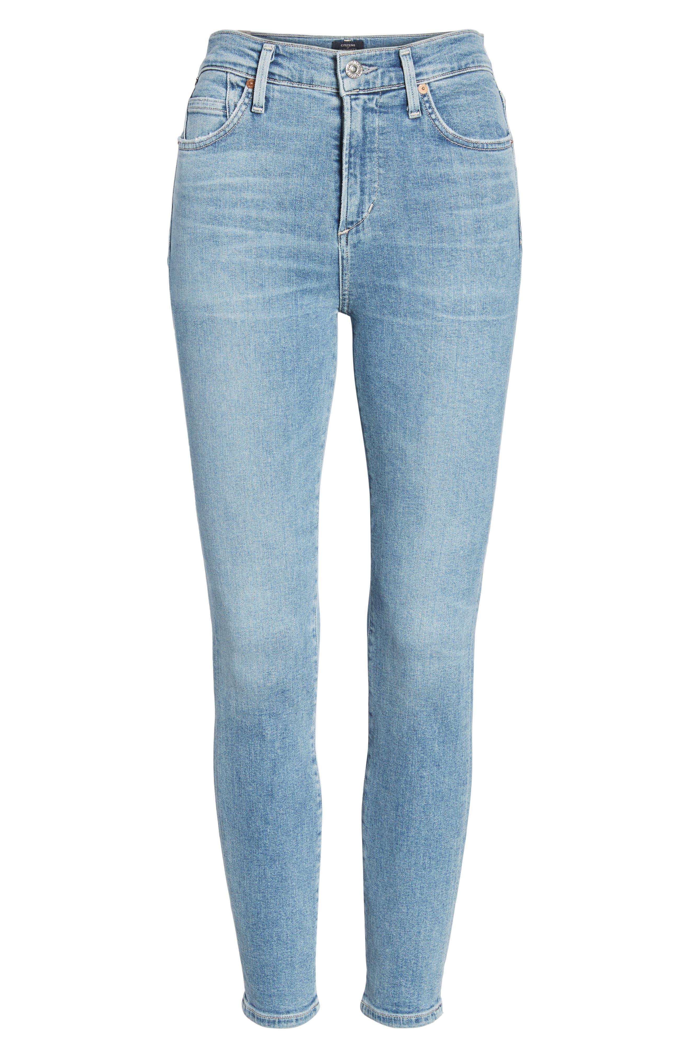 Rocket High Waist Crop Skinny Jeans,                             Alternate thumbnail 7, color,                             457