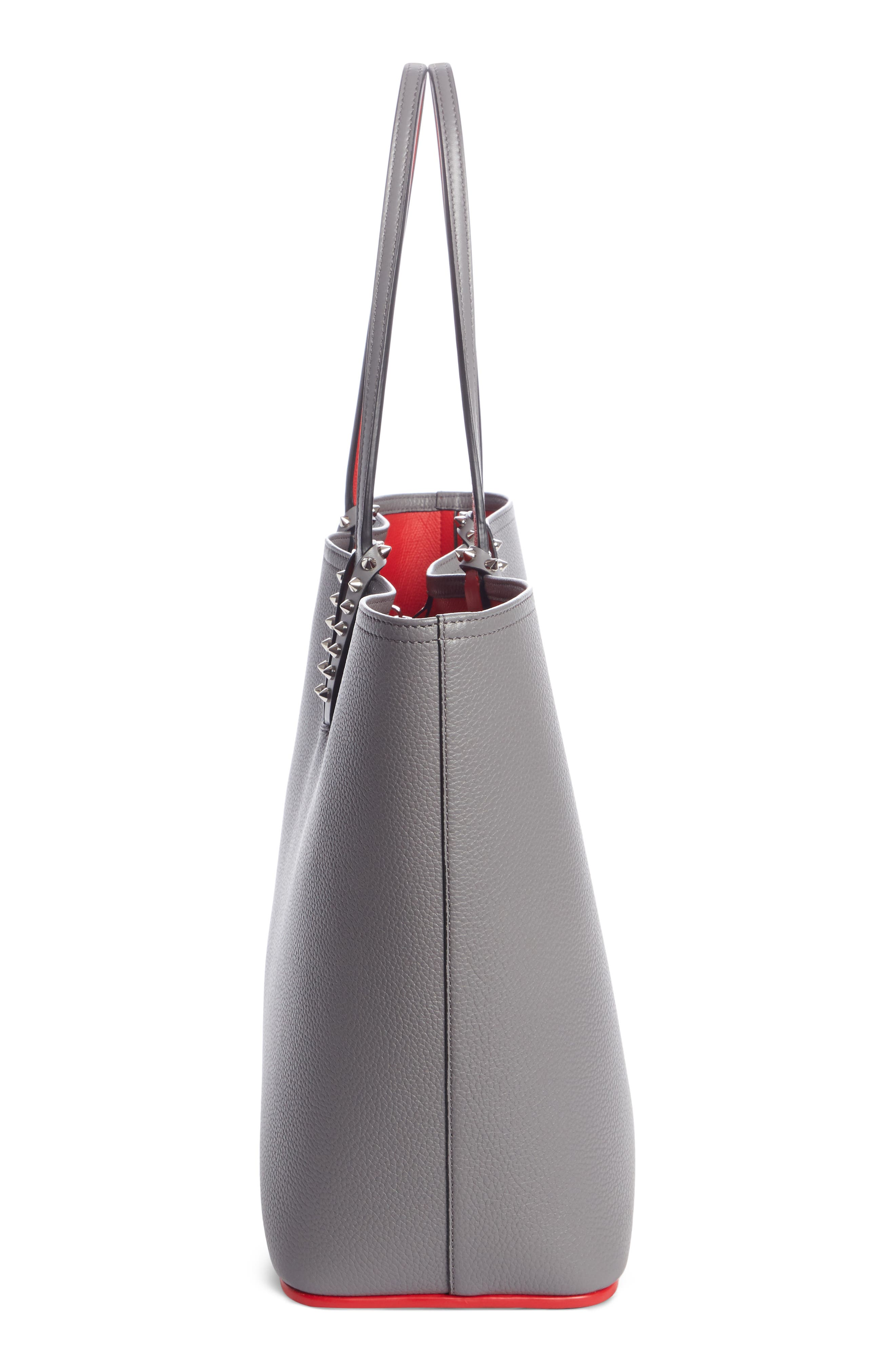 Cabata Calfskin Leather Tote,                             Alternate thumbnail 3, color,                             SHADOW/ SHADOW