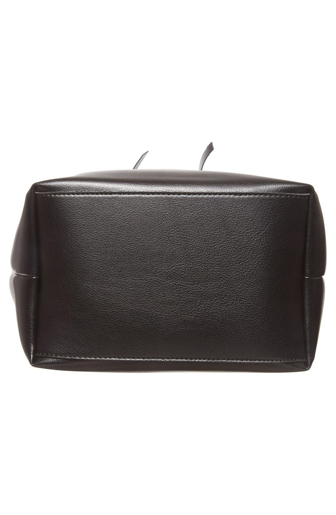 SOLE SOCIETY,                             'Blackwood' Faux Leather Bucket Bag,                             Alternate thumbnail 6, color,                             001