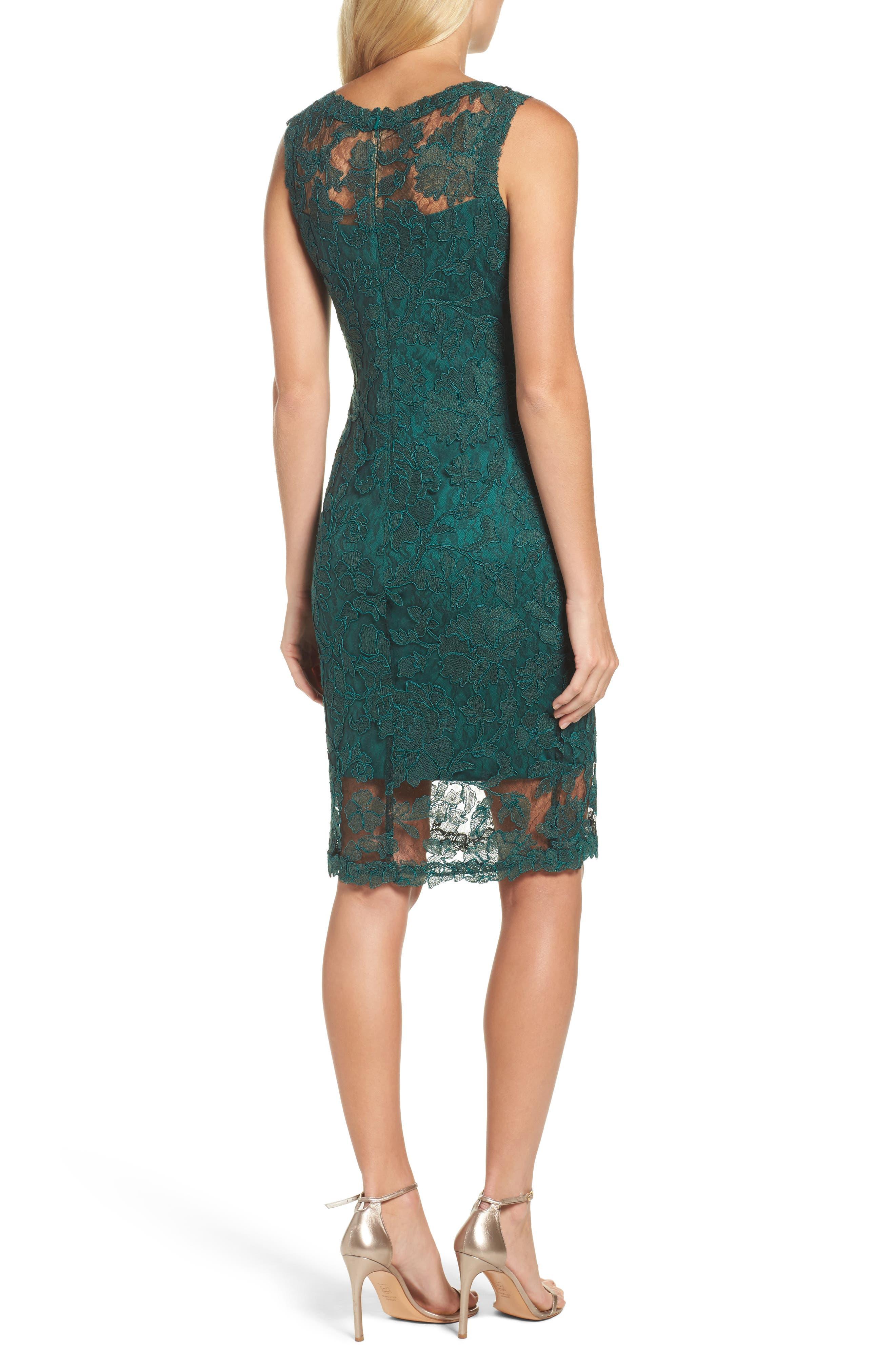 Corded Lace Sheath Dress,                             Alternate thumbnail 2, color,                             376