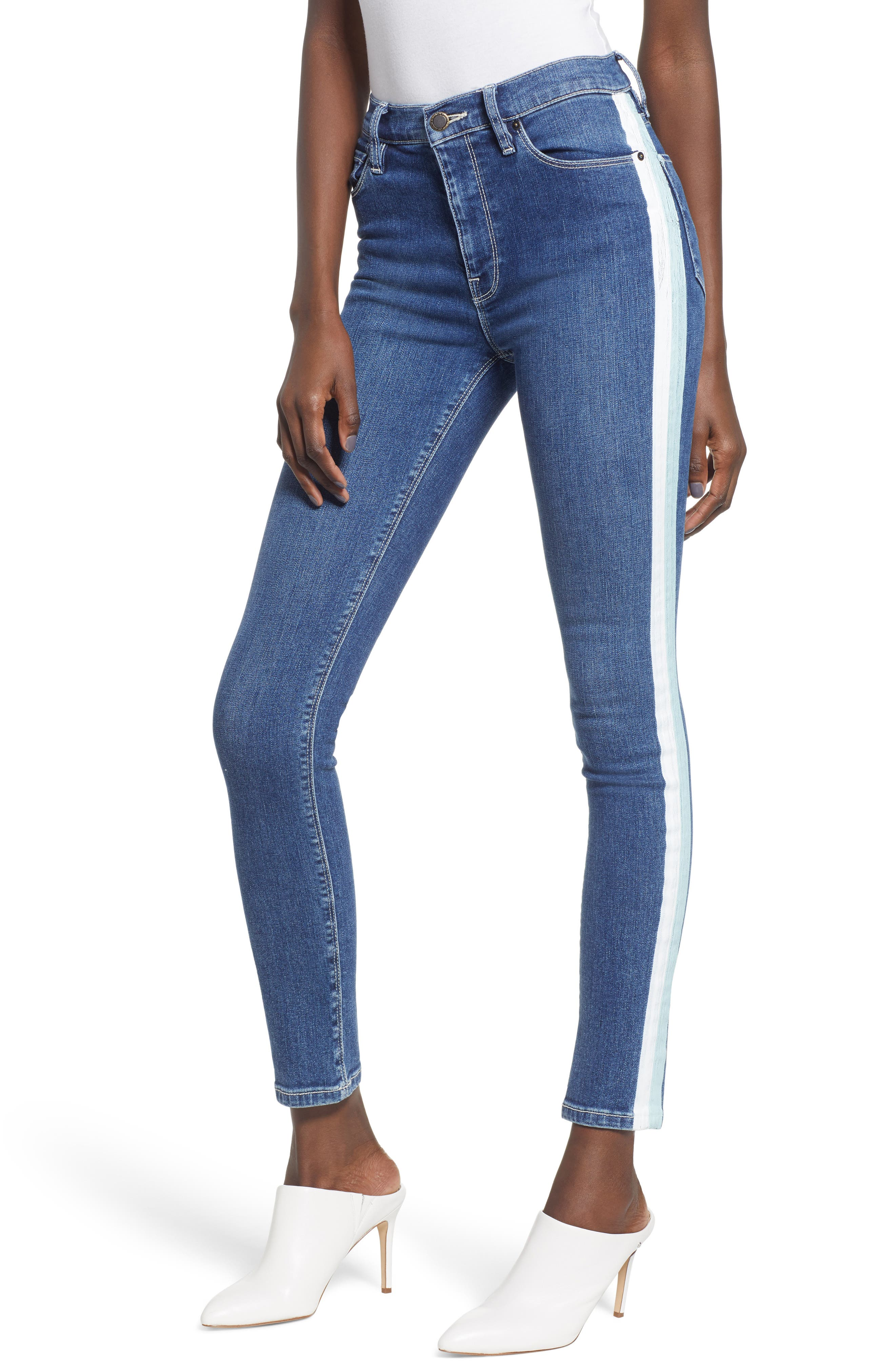Barbara High Waist Ankle Skinny Jeans, Main, color, 403