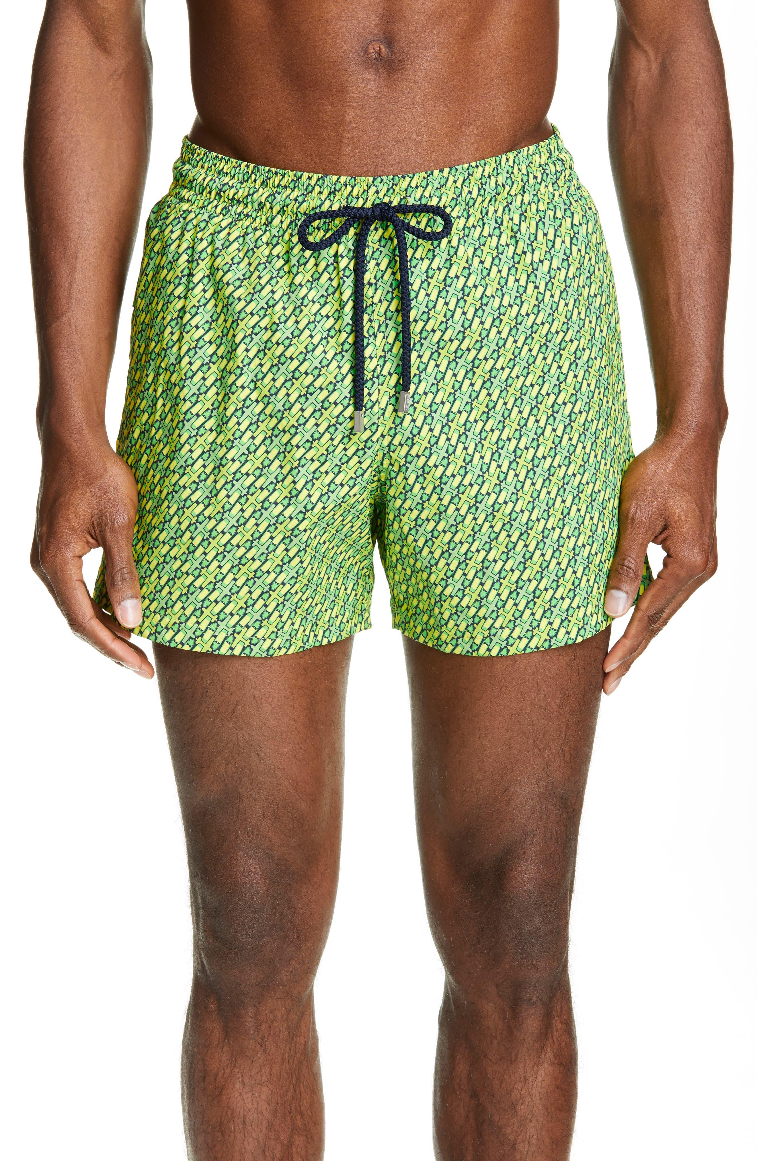 Vilebrequin St. Barth Moorise Swim Trunks, Green