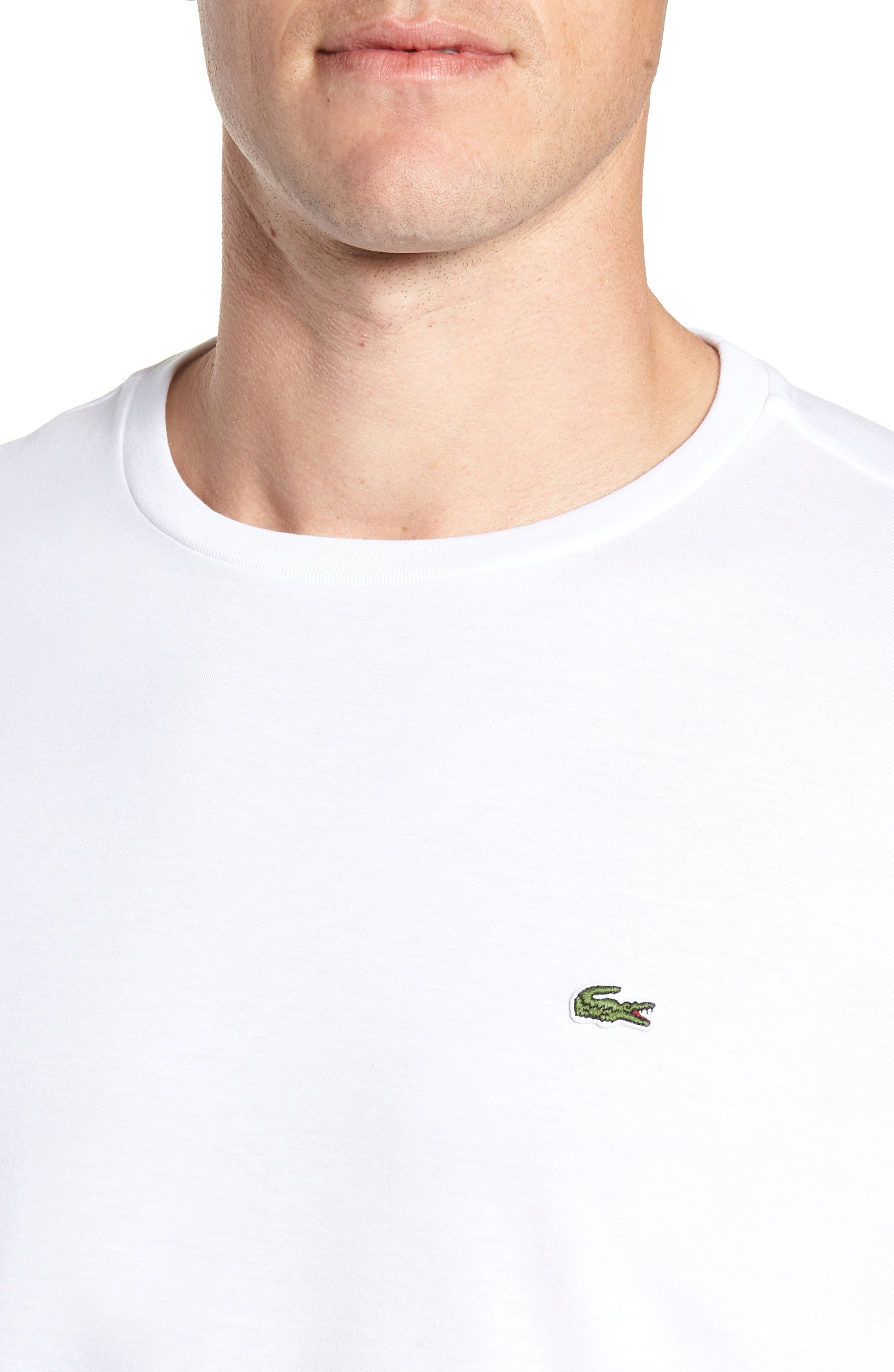 Pima Cotton T-Shirt,                             Alternate thumbnail 4, color,                             WHITE