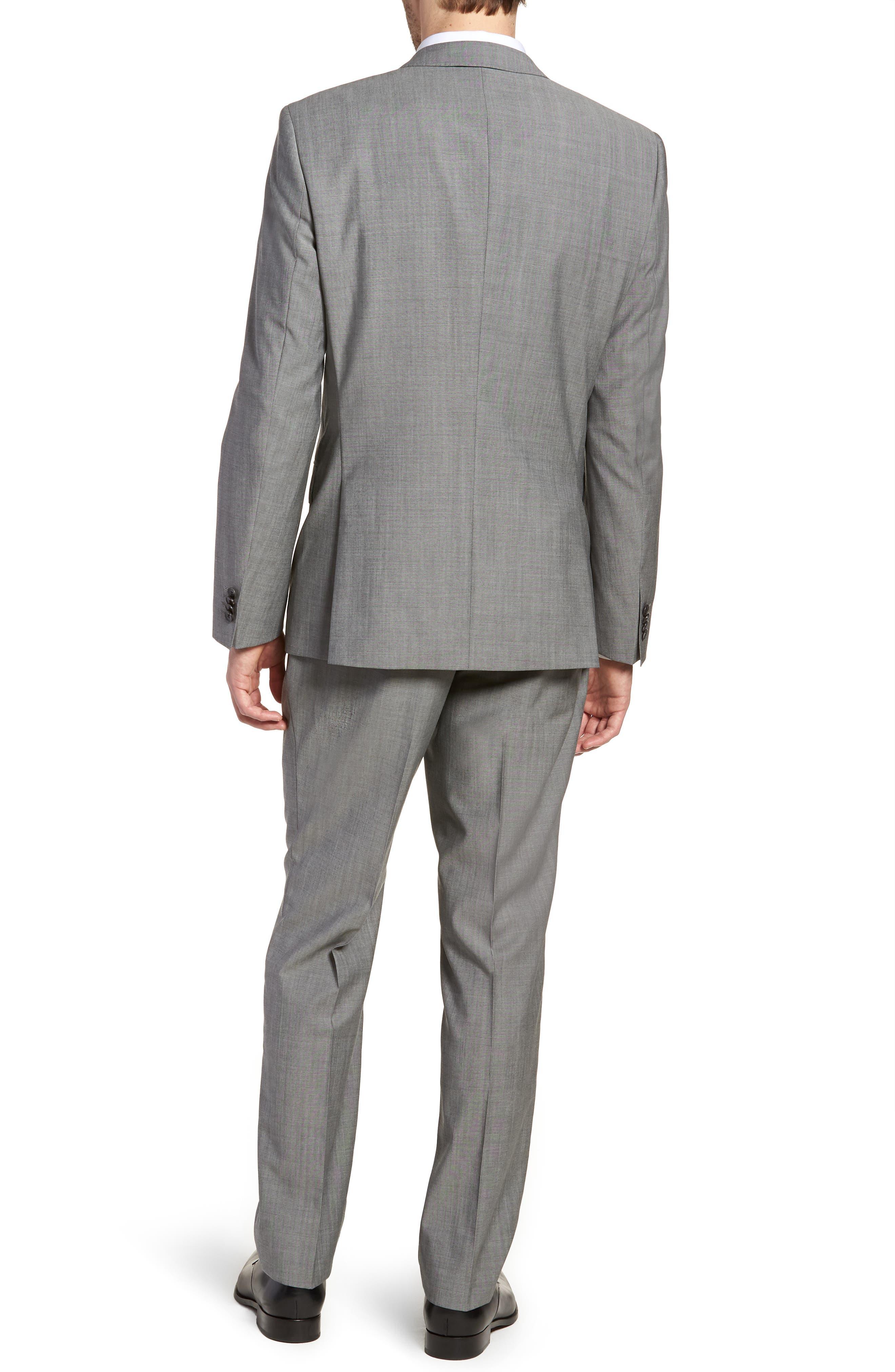 'Huge/Genius' Trim Fit Solid Wool Suit,                             Alternate thumbnail 2, color,                             PEARL GREY