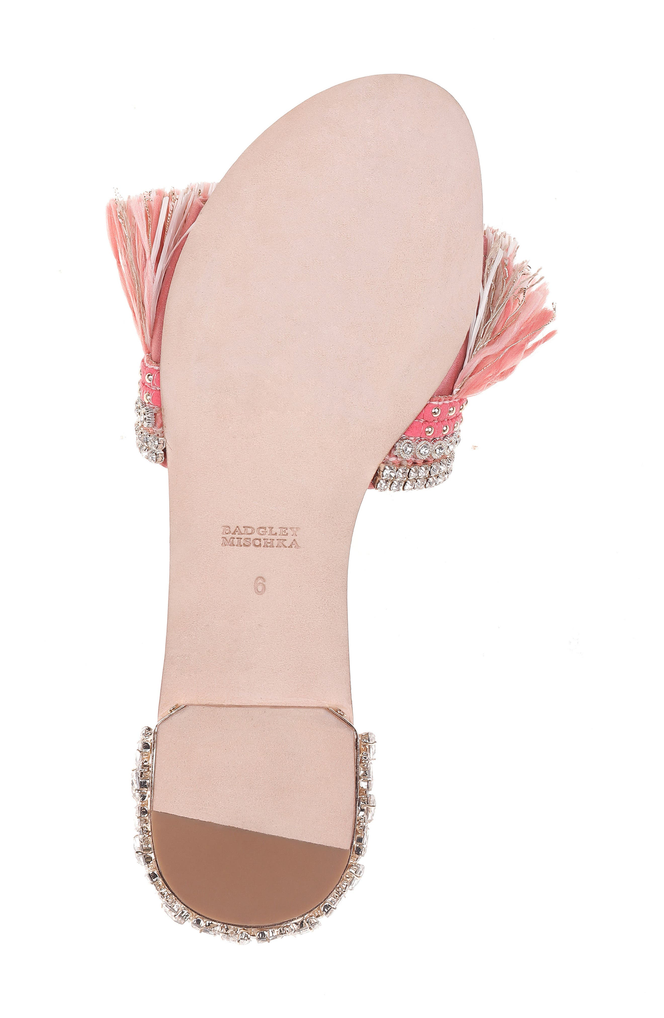 Sharlene Sandal,                             Alternate thumbnail 6, color,                             GRAPEFRUIT SATIN