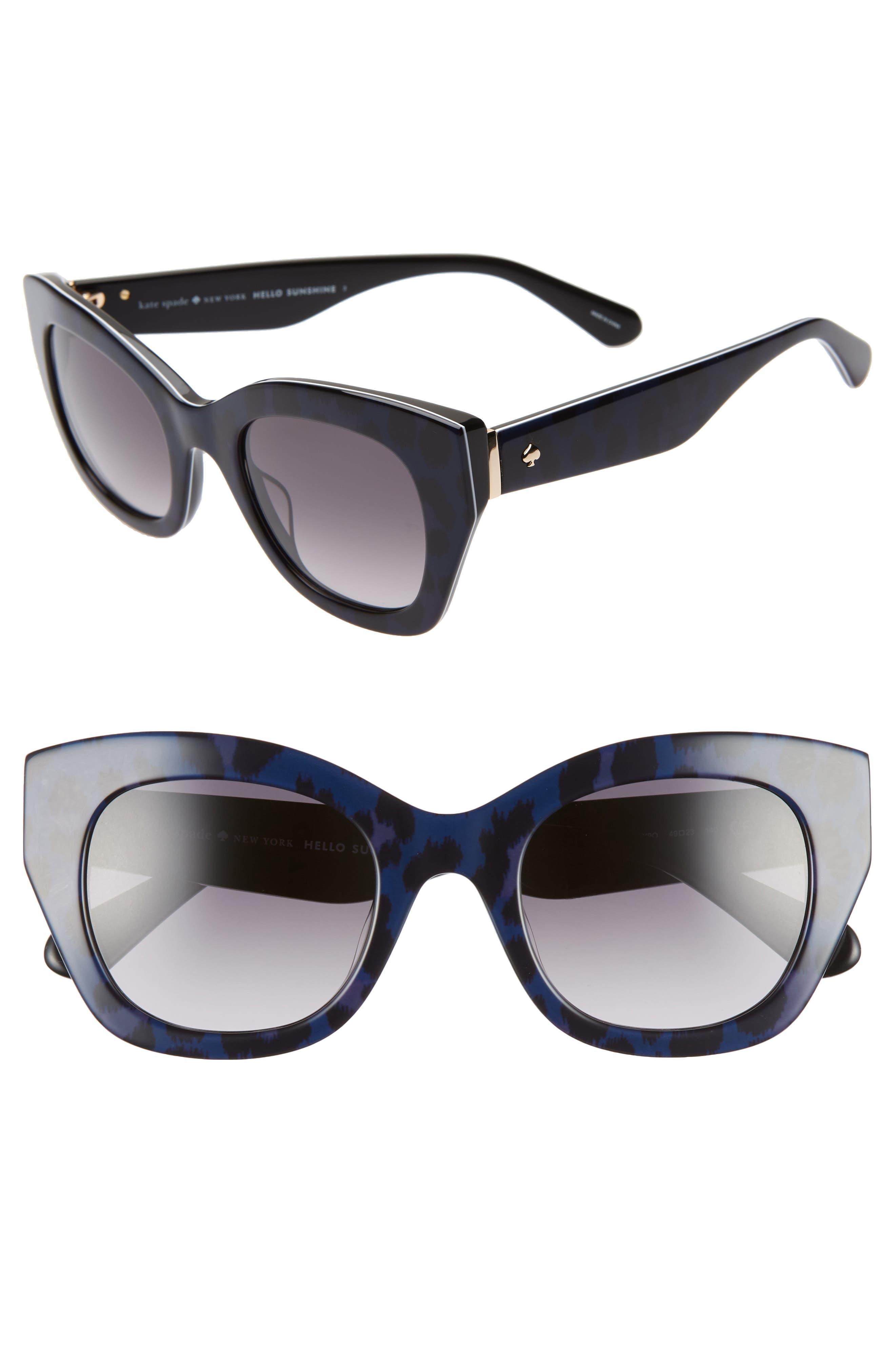 jalena 49mm gradient sunglasses,                         Main,                         color, BLACK PATTERN BLACK