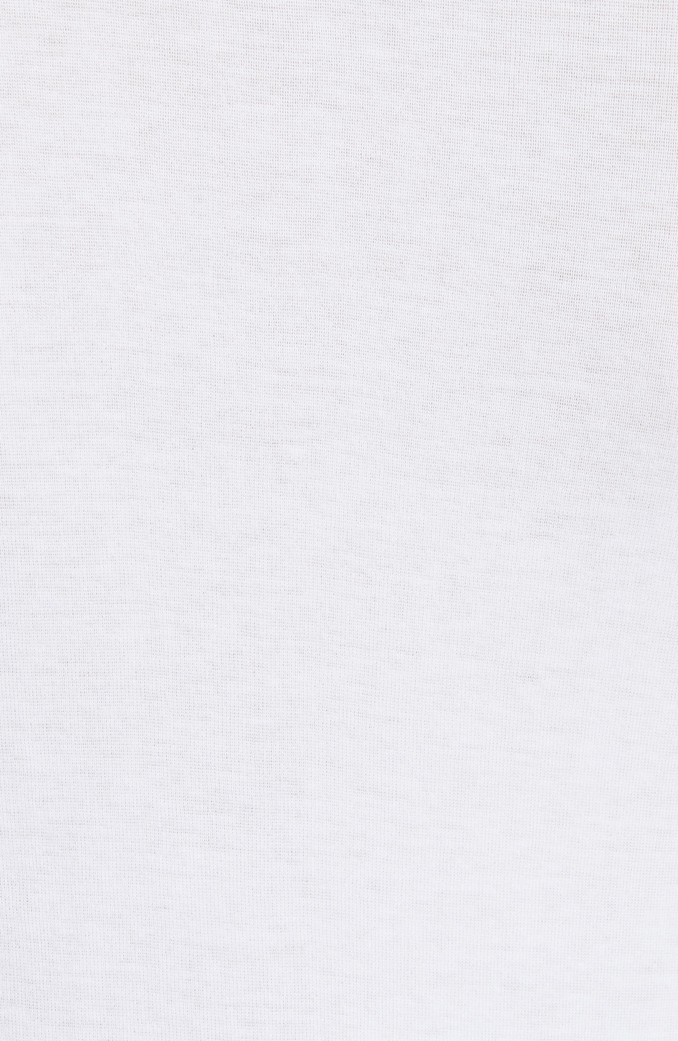 Elbow Sleeve Henley Cotton Top,                             Alternate thumbnail 5, color,                             137