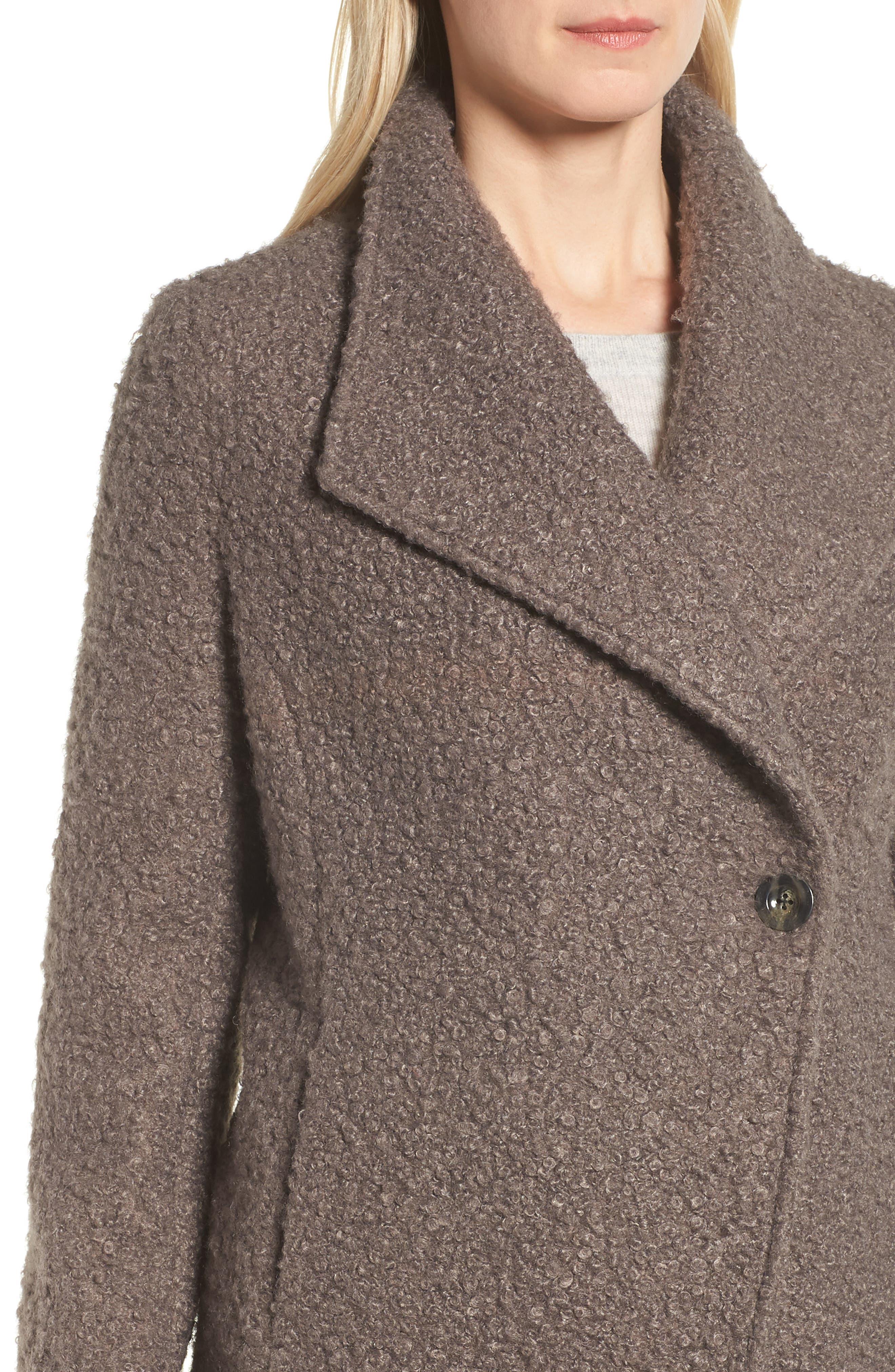Sheila Bouclé Knit Coat,                             Alternate thumbnail 4, color,                             087