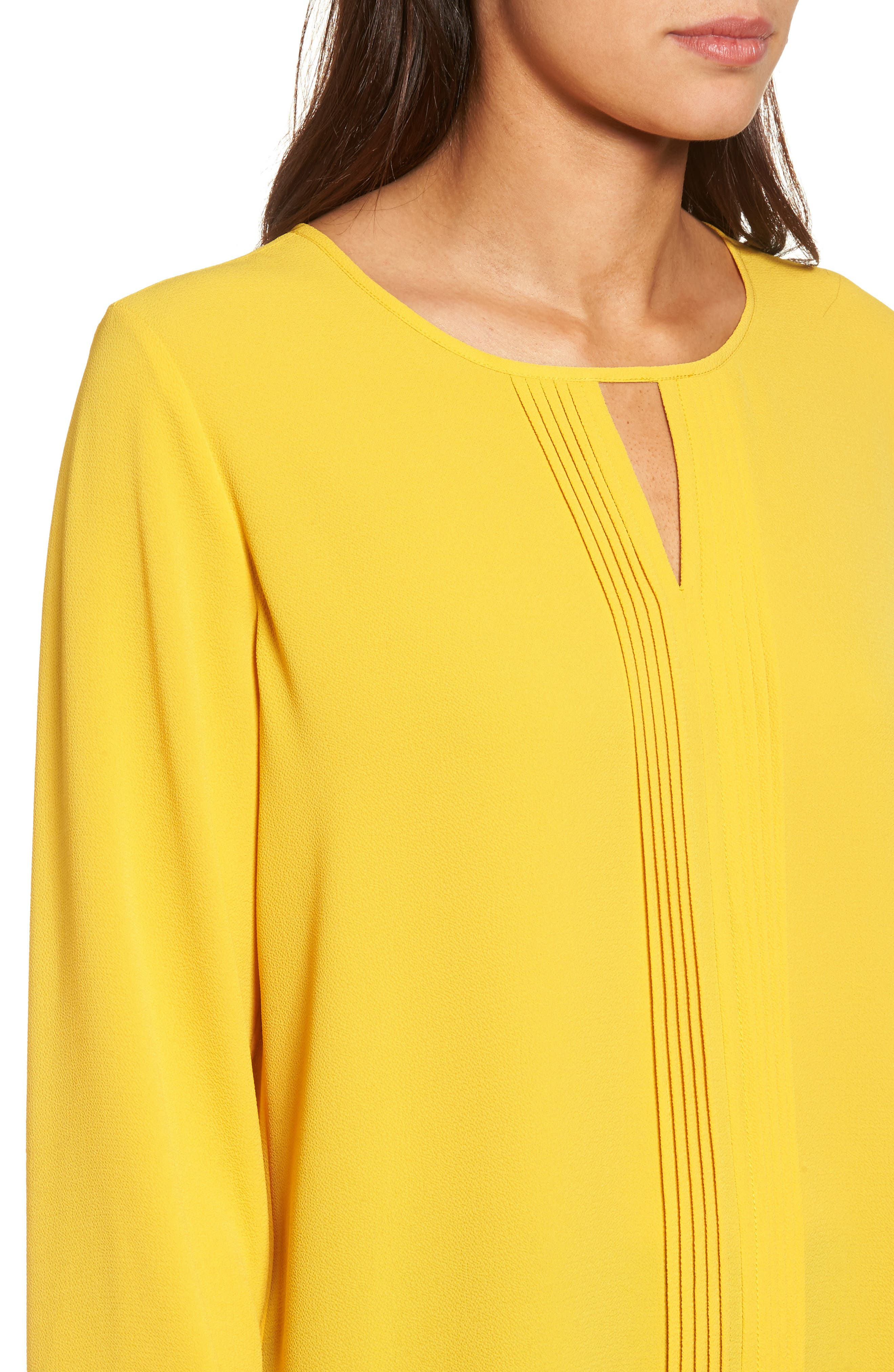 Pintuck Front Blouse,                             Alternate thumbnail 4, color,                             730