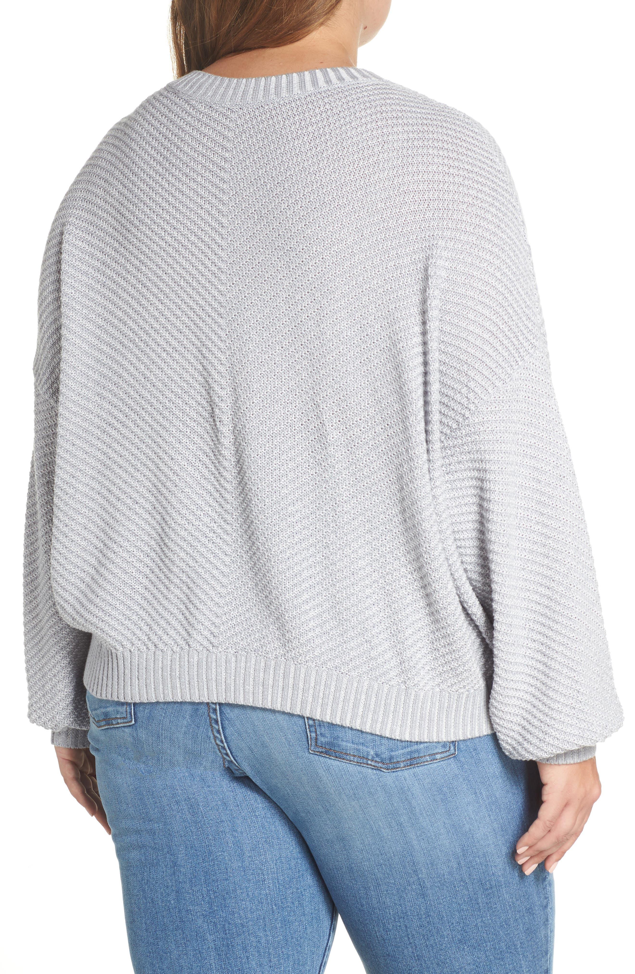 Plaited Drop Shoulder Sweater,                             Alternate thumbnail 8, color,                             050