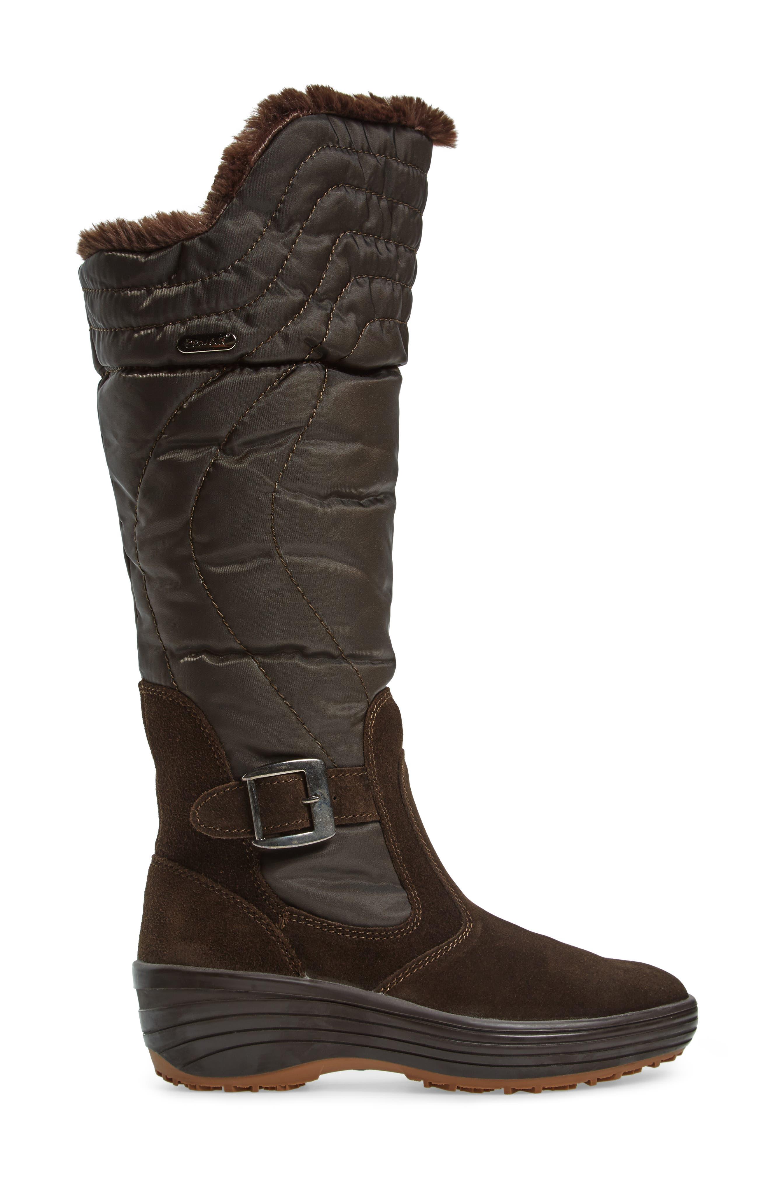 Natasha Faux Fur Lined Waterproof Boot,                             Alternate thumbnail 6, color,