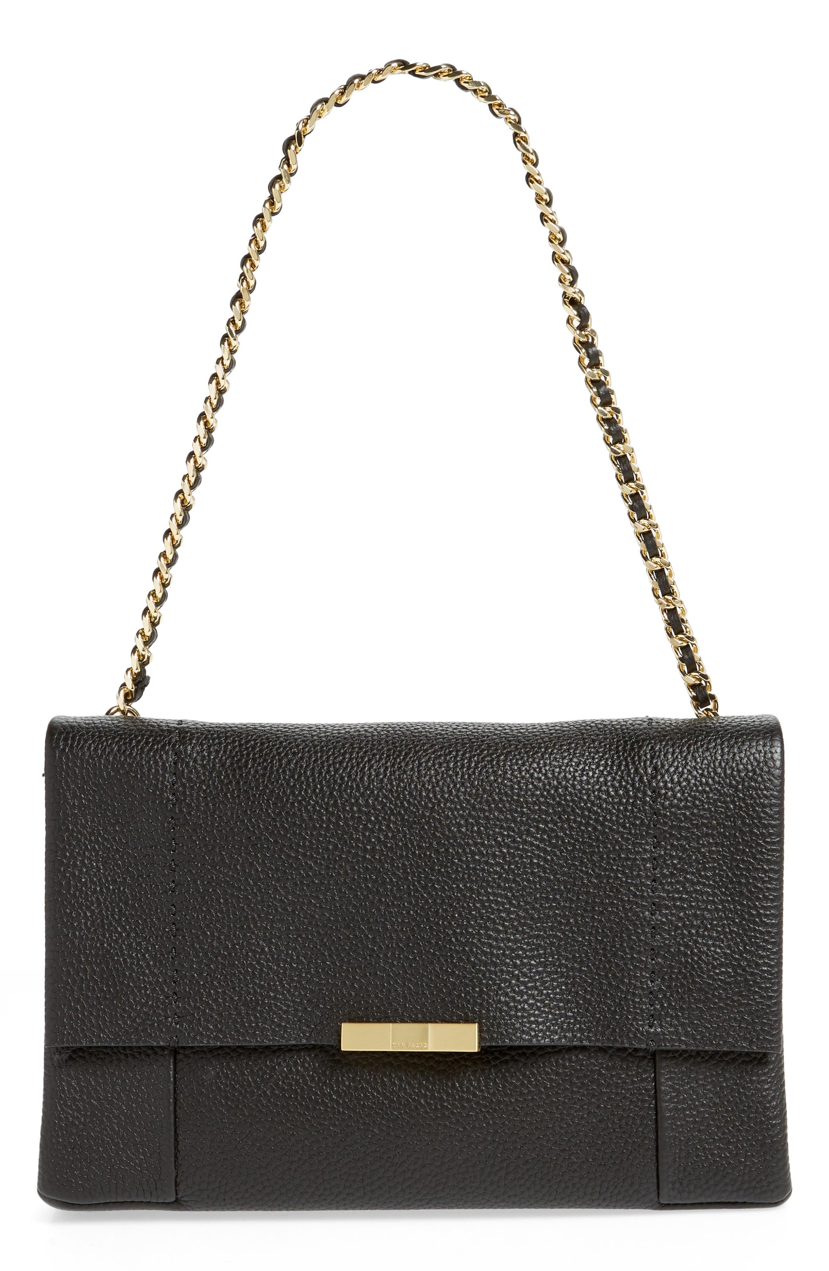 Genifer Pebbled Leather Shoulder Bag by Ted Baker London