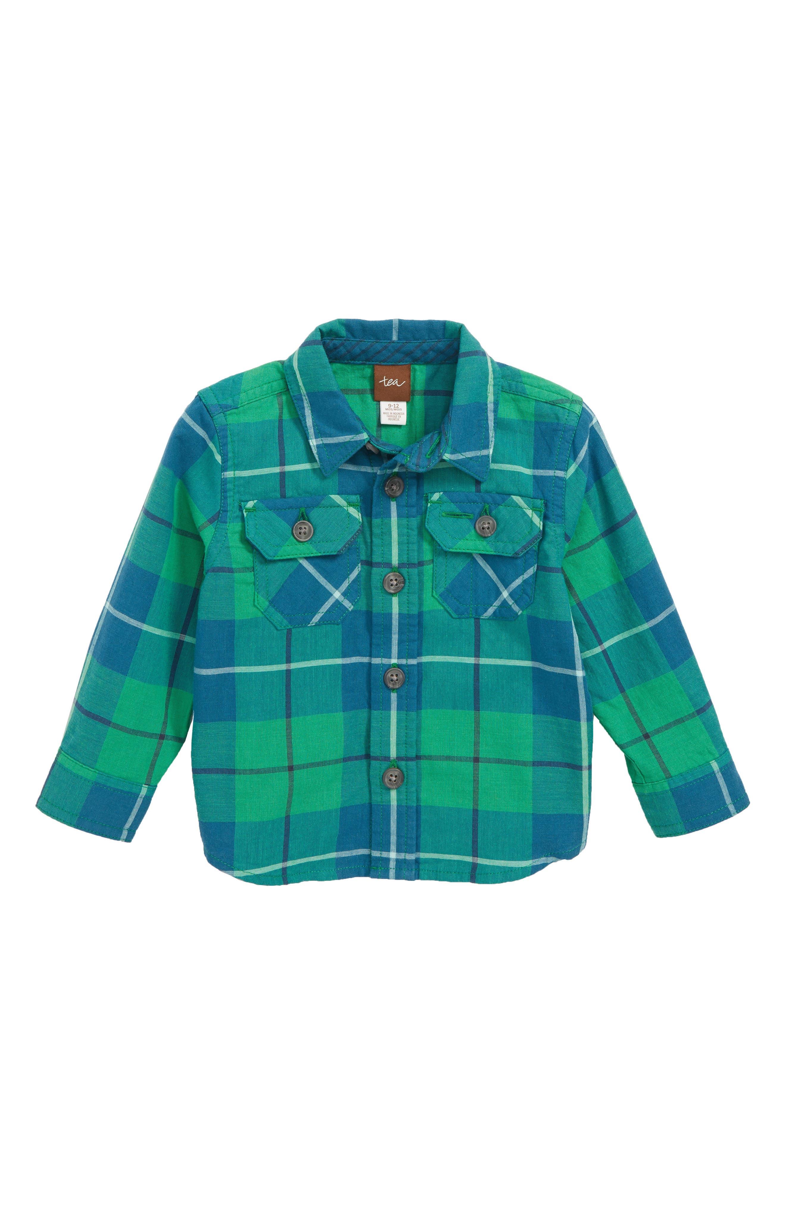 Plaid Shirt,                             Main thumbnail 1, color,                             TARTAN PLAID