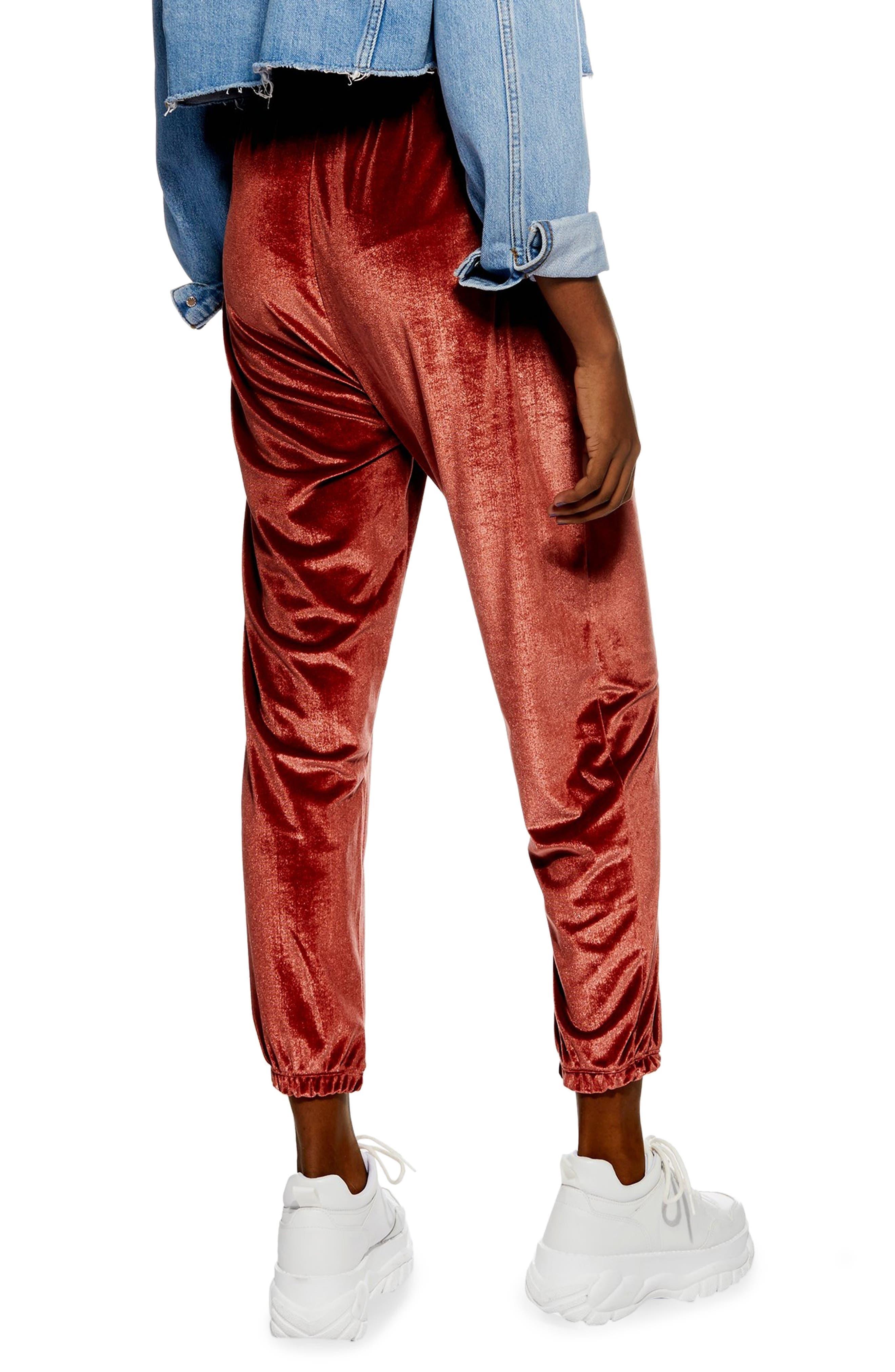 Velour Jogger Pants,                             Alternate thumbnail 2, color,                             ROSE GOLD