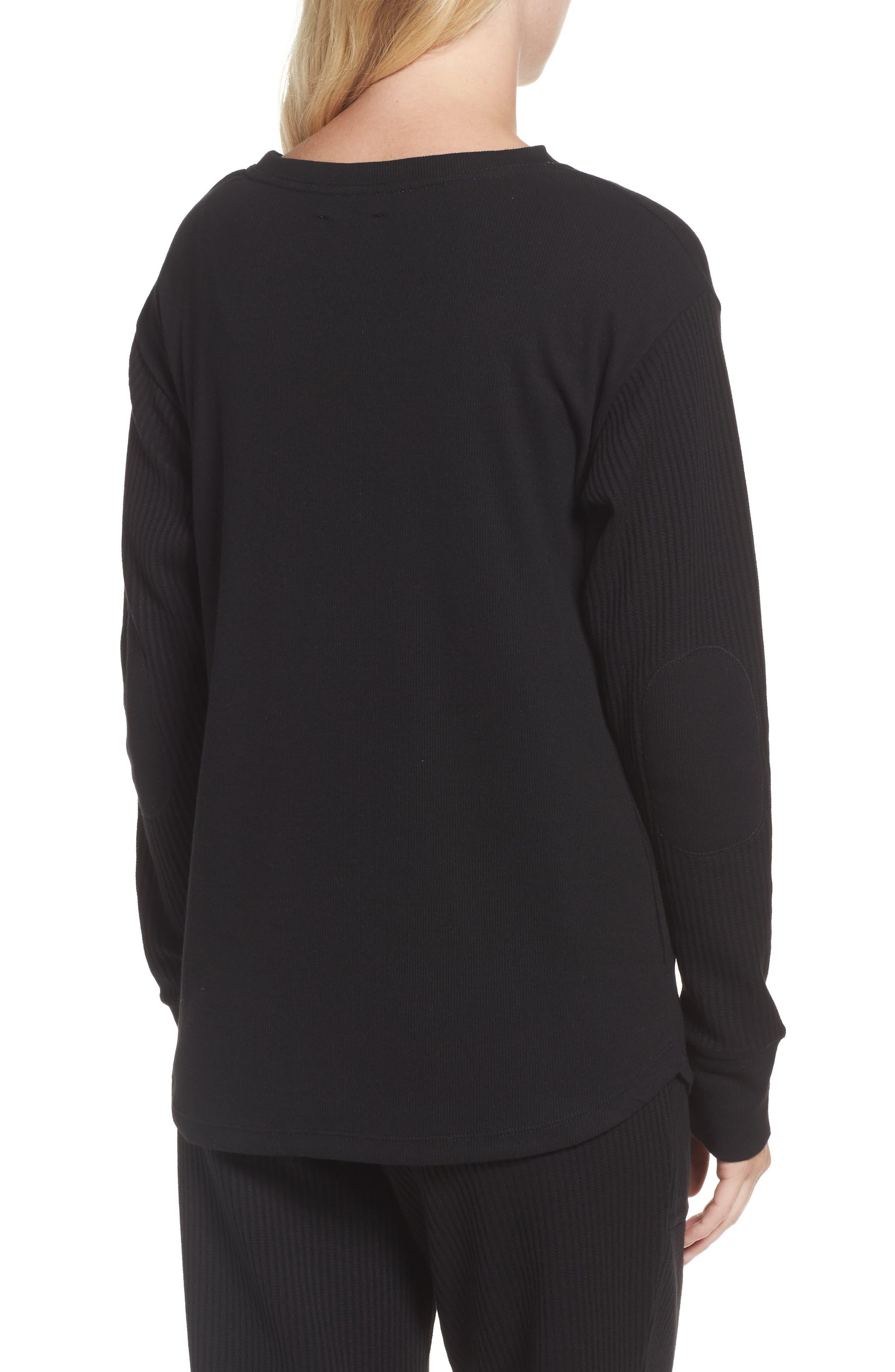Long Sleeve Sleep Shirt,                             Alternate thumbnail 2, color,                             001