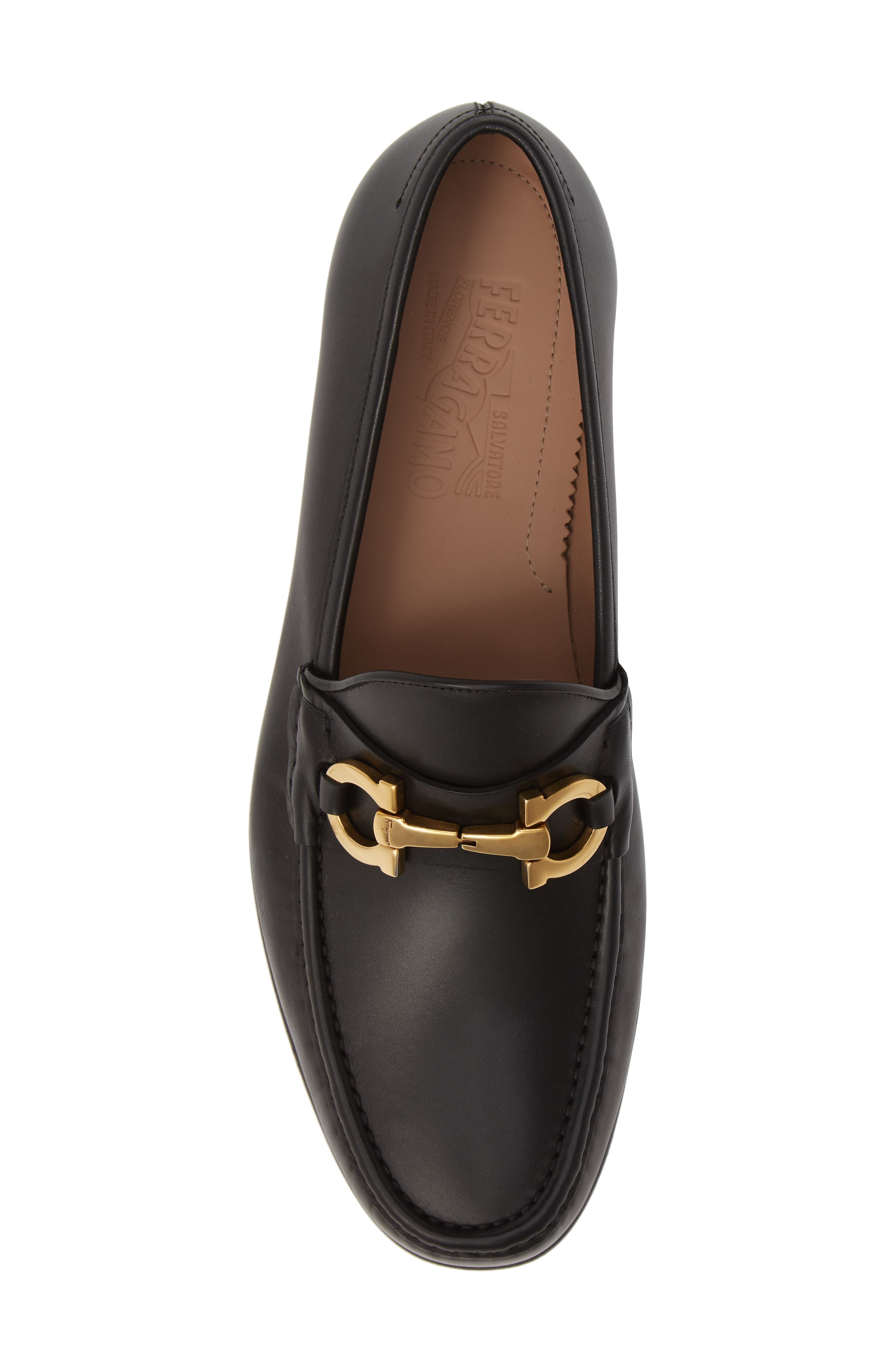 Bond Bitted Moc Loafer,                             Alternate thumbnail 5, color,                             NERO LEATHER