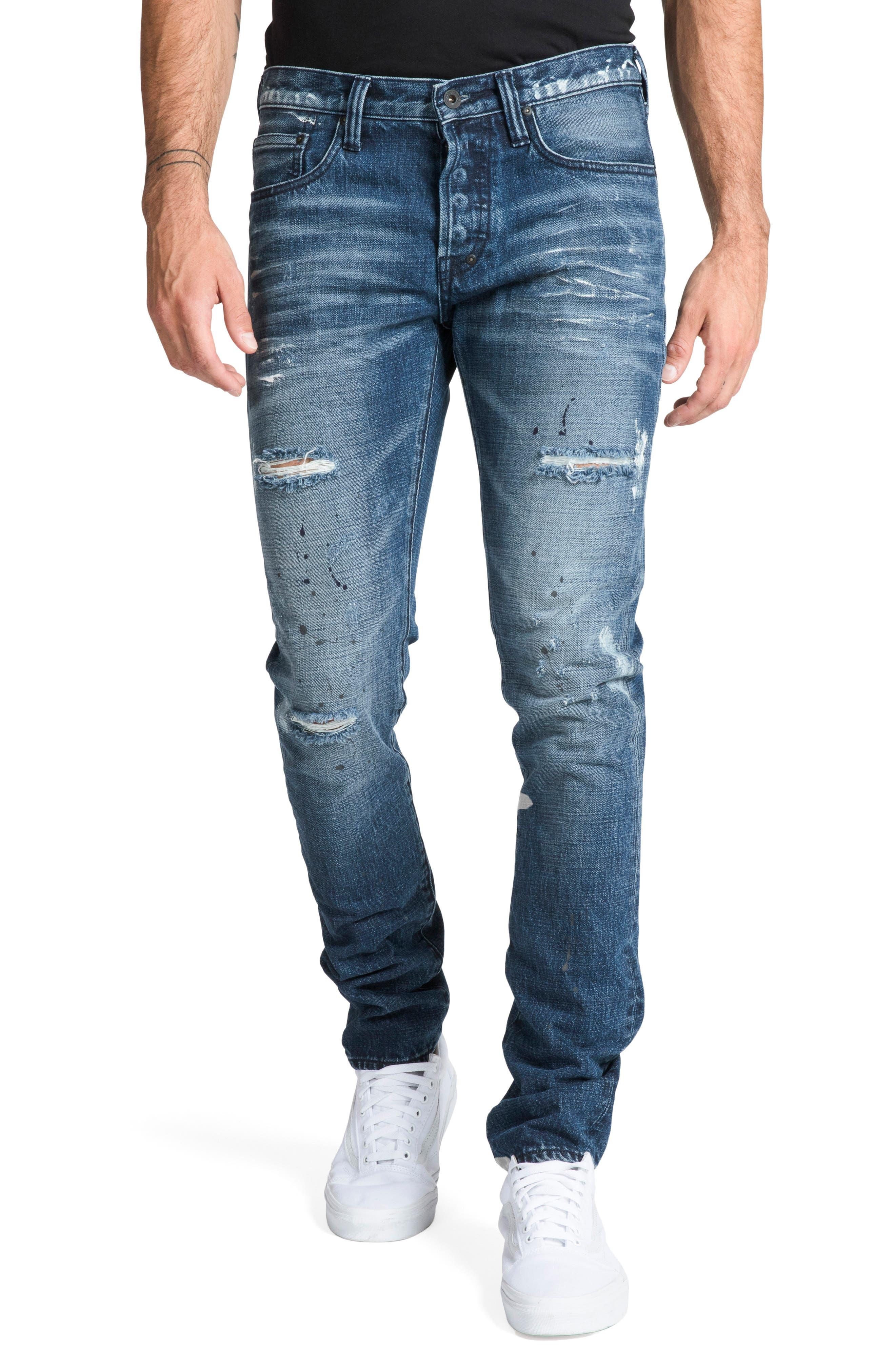 Le Sabre Slim Fit Jeans,                             Main thumbnail 1, color,                             PERPETUAL