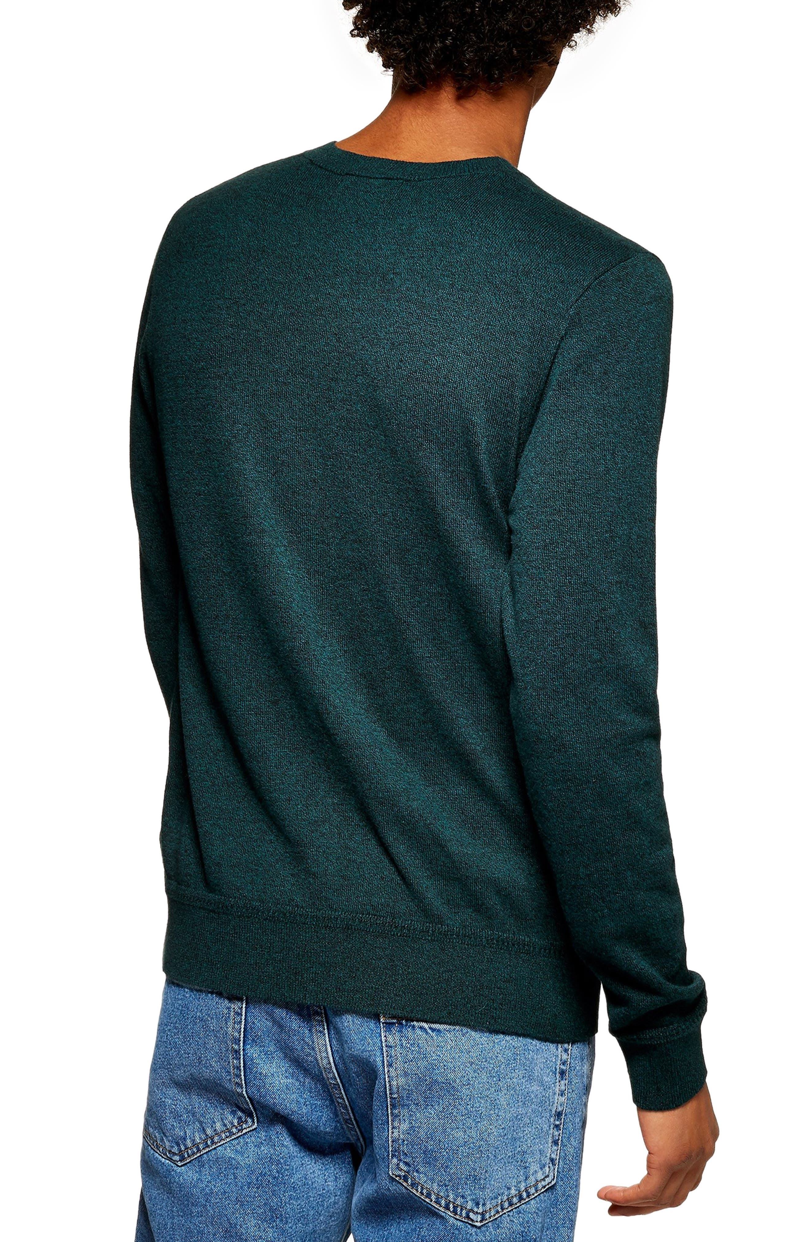 Marl Crewneck Sweater,                             Alternate thumbnail 2, color,                             GREEN