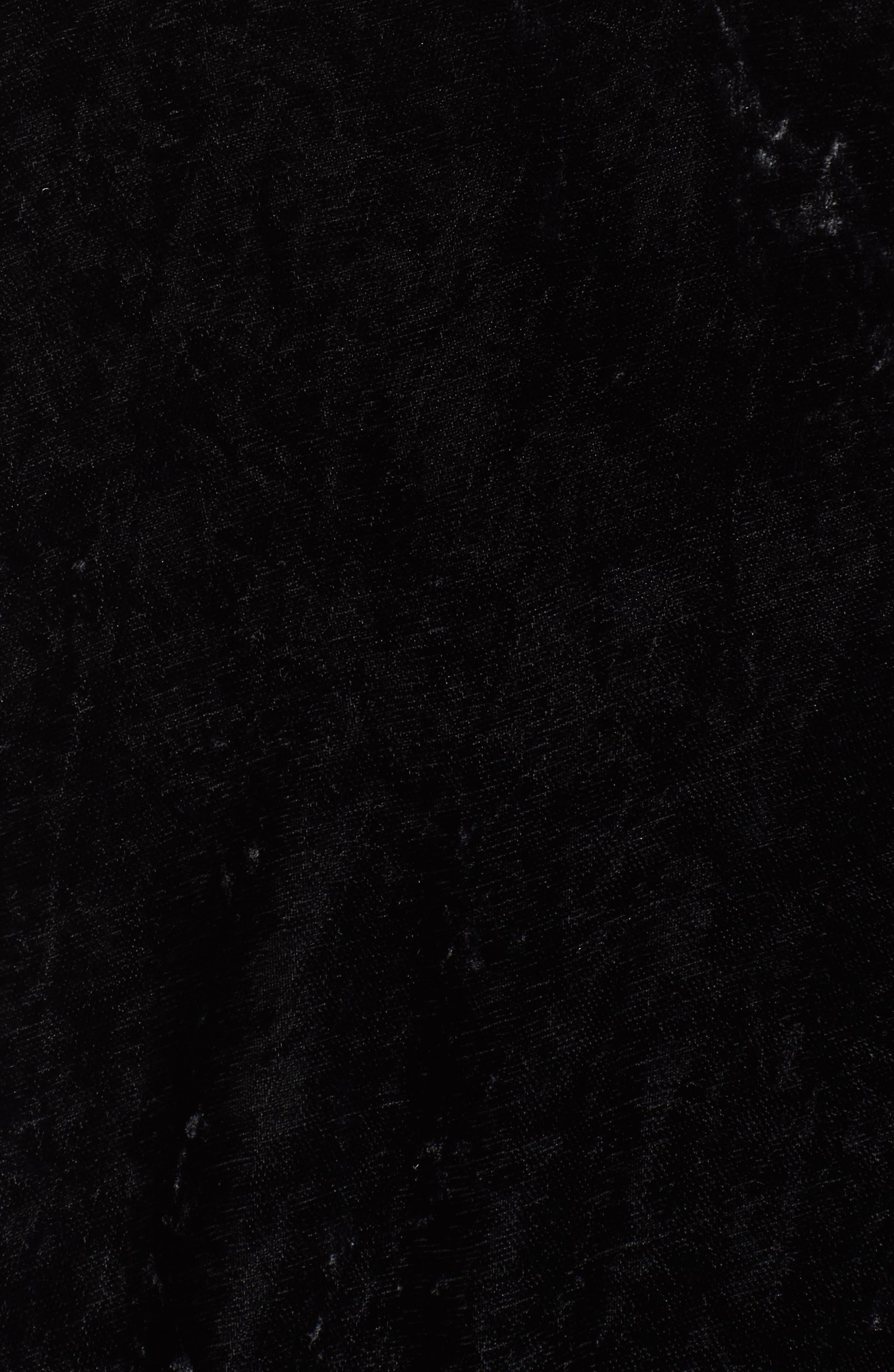 SPLENDID,                             Crushed Velvet Bomber Jacket,                             Alternate thumbnail 6, color,                             001