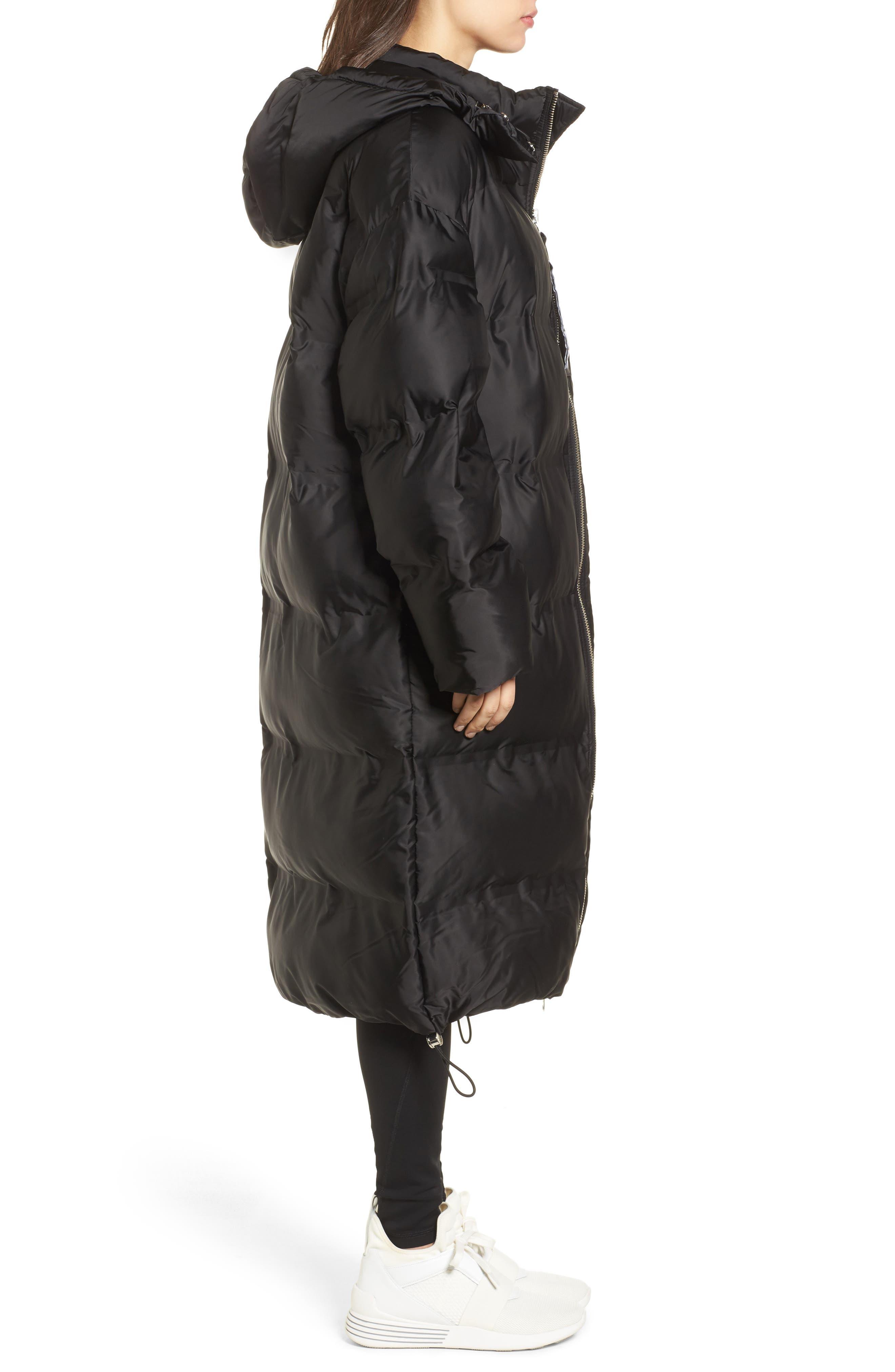 Longline Bonded Puffer Jacket,                             Alternate thumbnail 3, color,