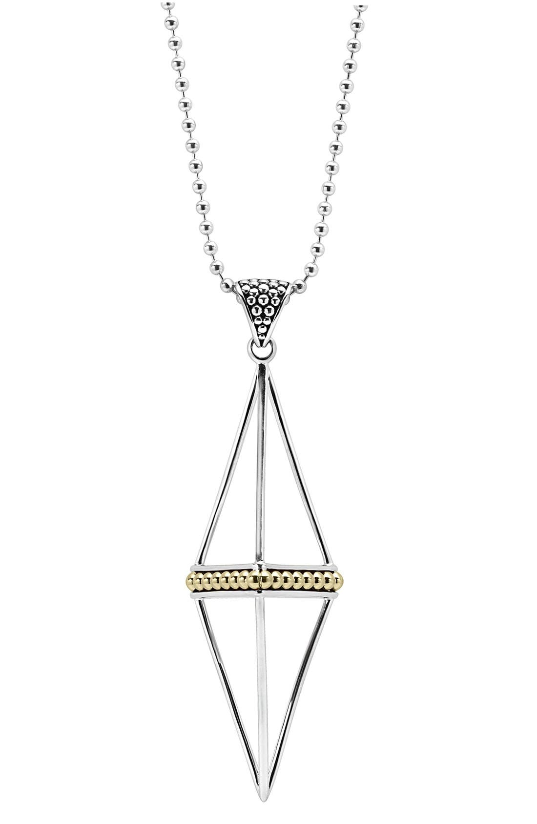 'KSl' Pyramid Pendant Necklace,                             Alternate thumbnail 2, color,                             040