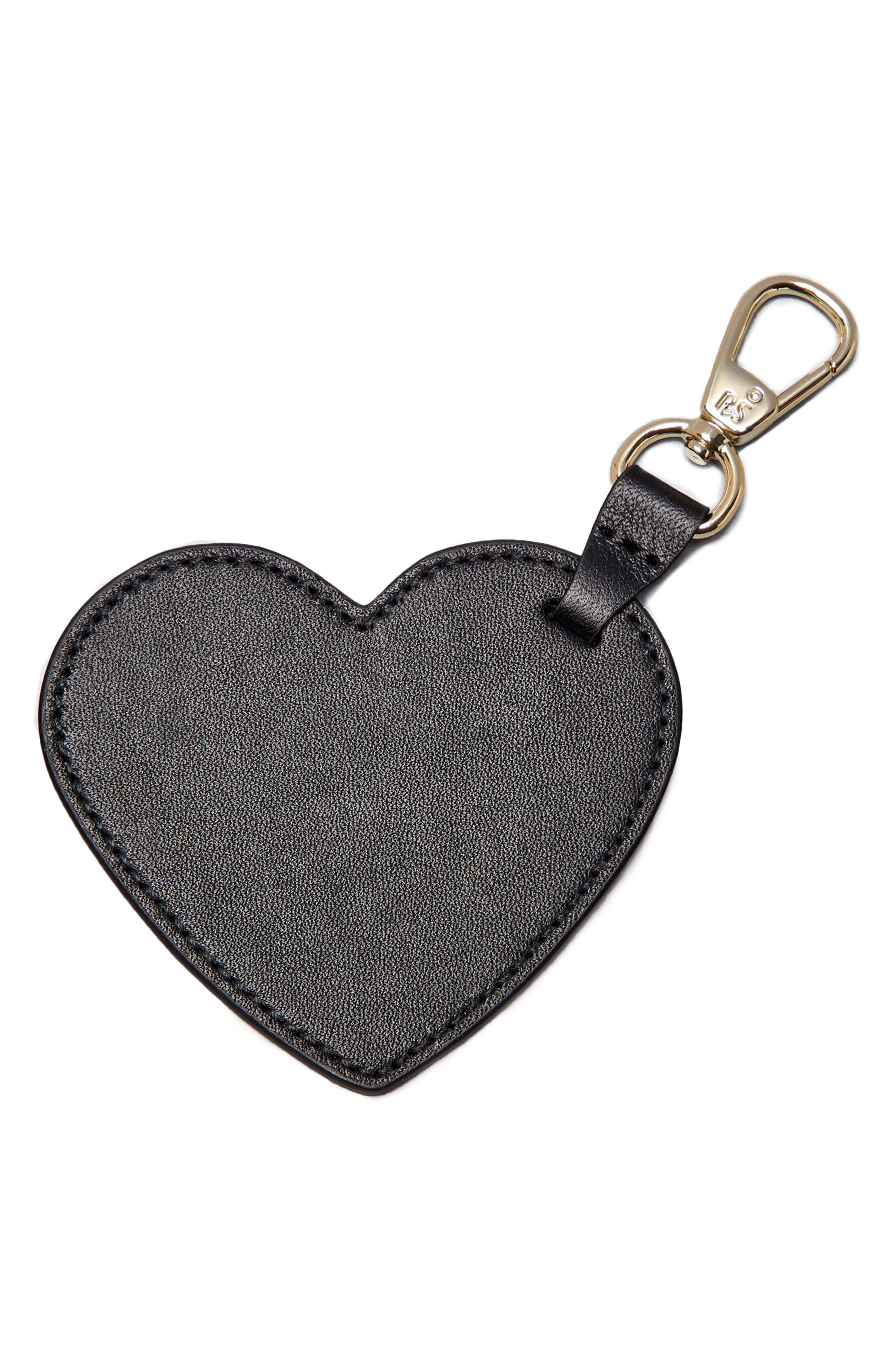 Smaller Heart Bag Charm,                             Main thumbnail 1, color,                             001