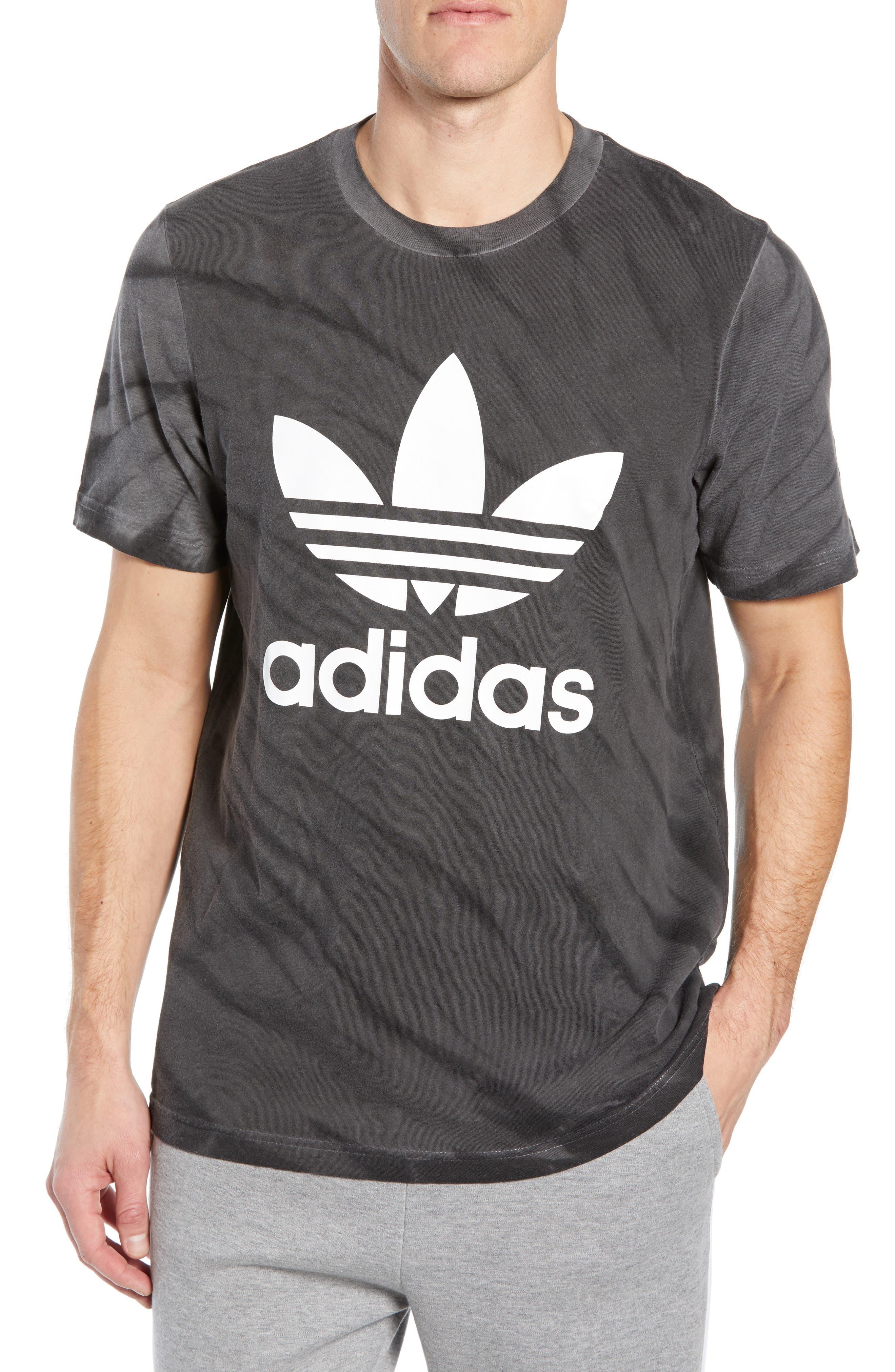 Tie Dye Logo T-Shirt,                             Main thumbnail 1, color,                             BLACK