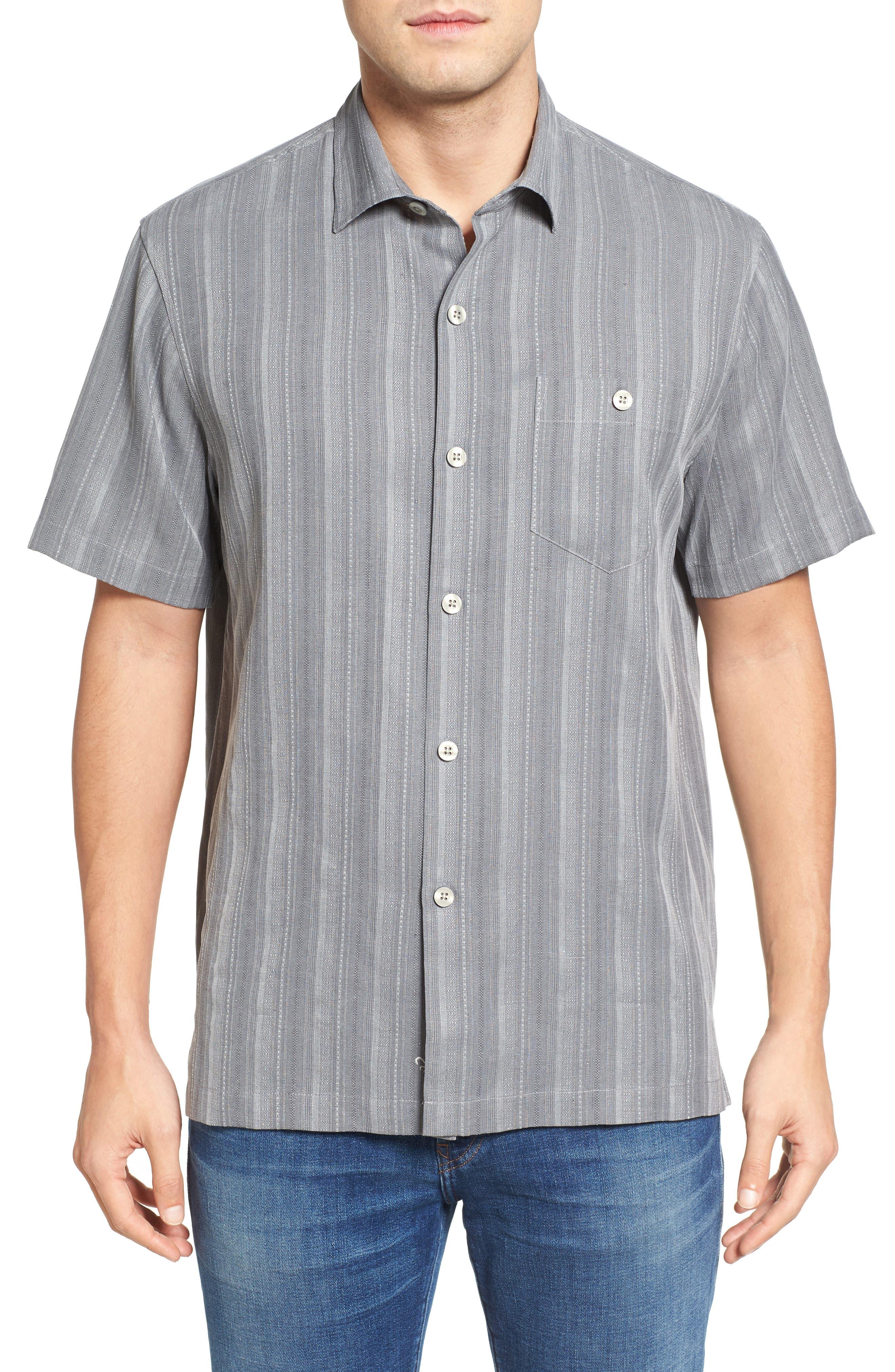 Zaldera Stripe Silk Camp Shirt,                         Main,                         color, 050