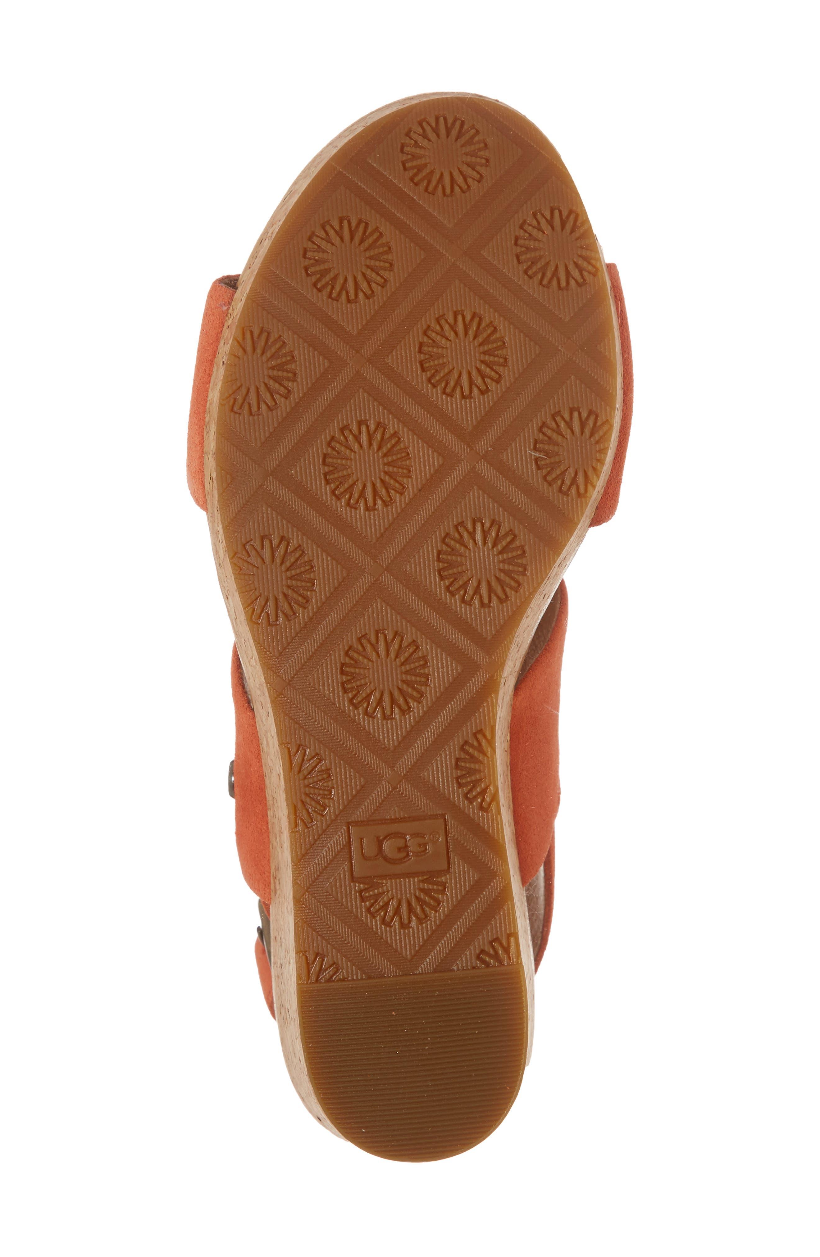 Elena II Platform Wedge Sandal,                             Alternate thumbnail 18, color,