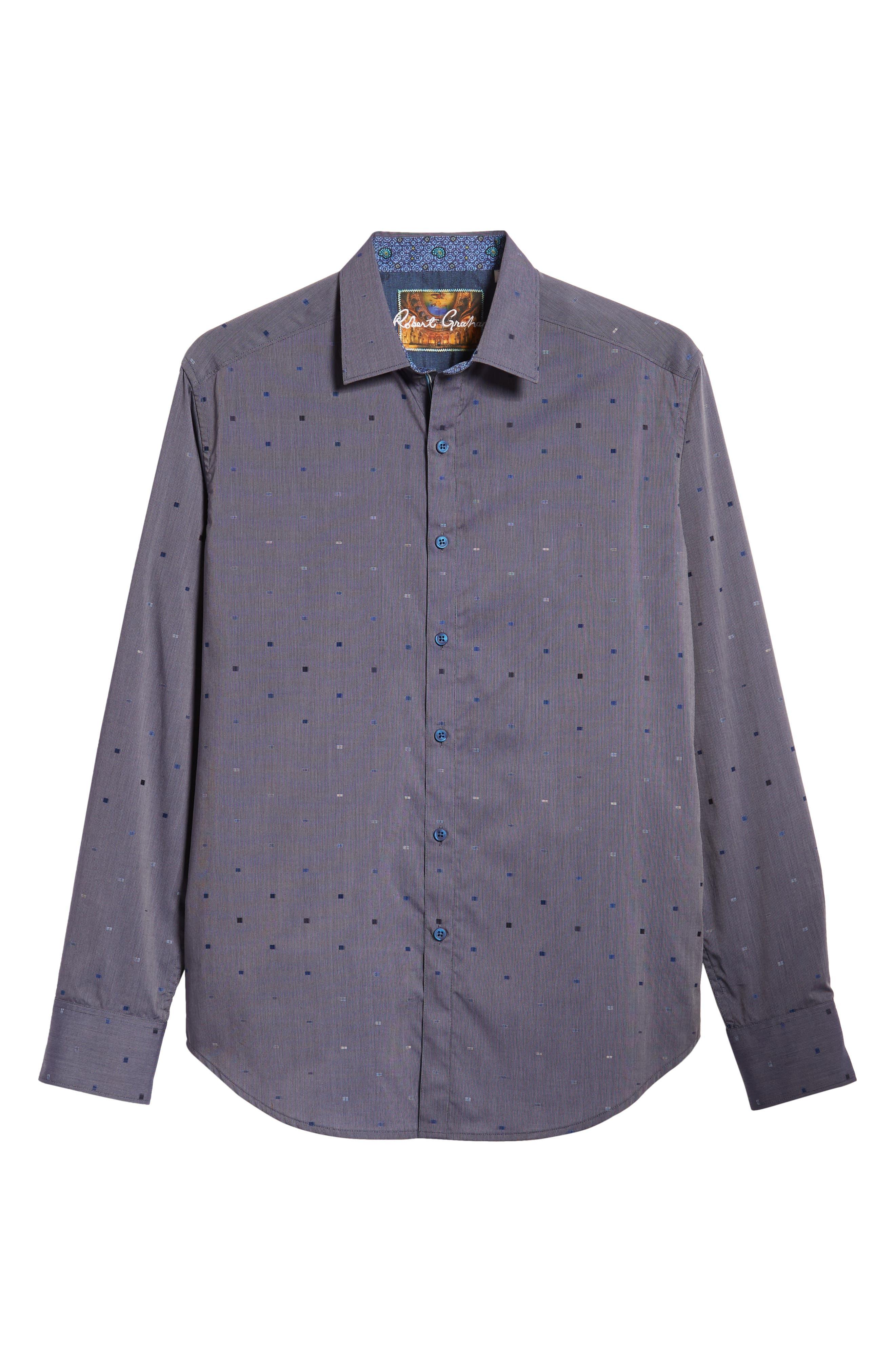 Kerr Classic Fit Sport Shirt,                             Alternate thumbnail 5, color,                             NAVY