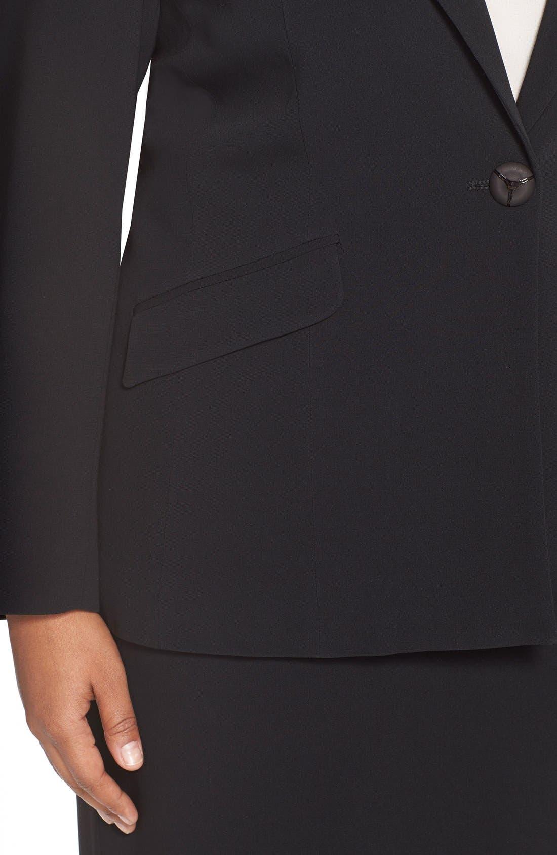 LOUBEN,                             Suit Pencil Skirt,                             Alternate thumbnail 4, color,                             BLACK