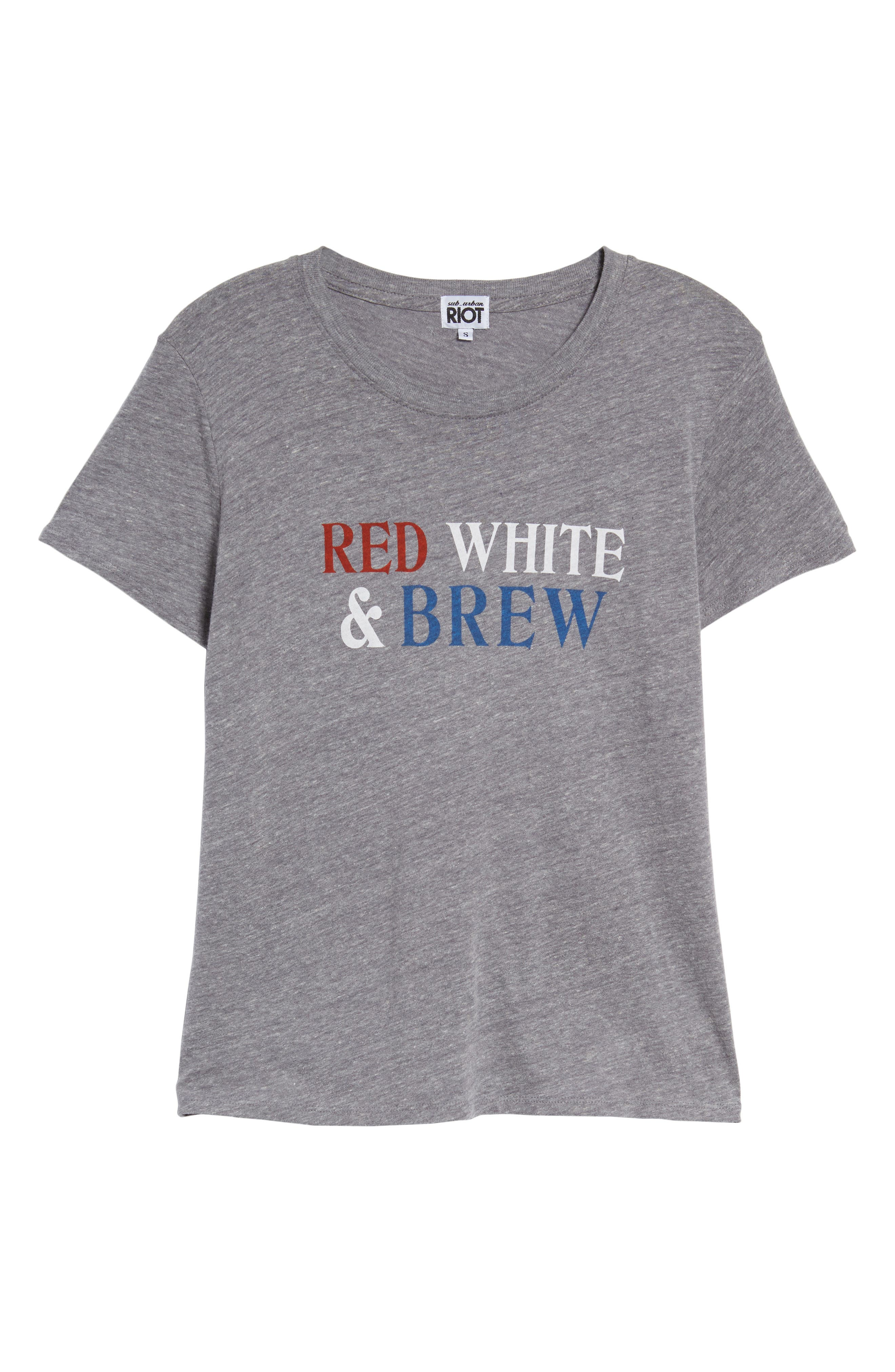 SUB_URBAN RIOT,                             Red, White & Brew Graphic Tee,                             Alternate thumbnail 6, color,                             020