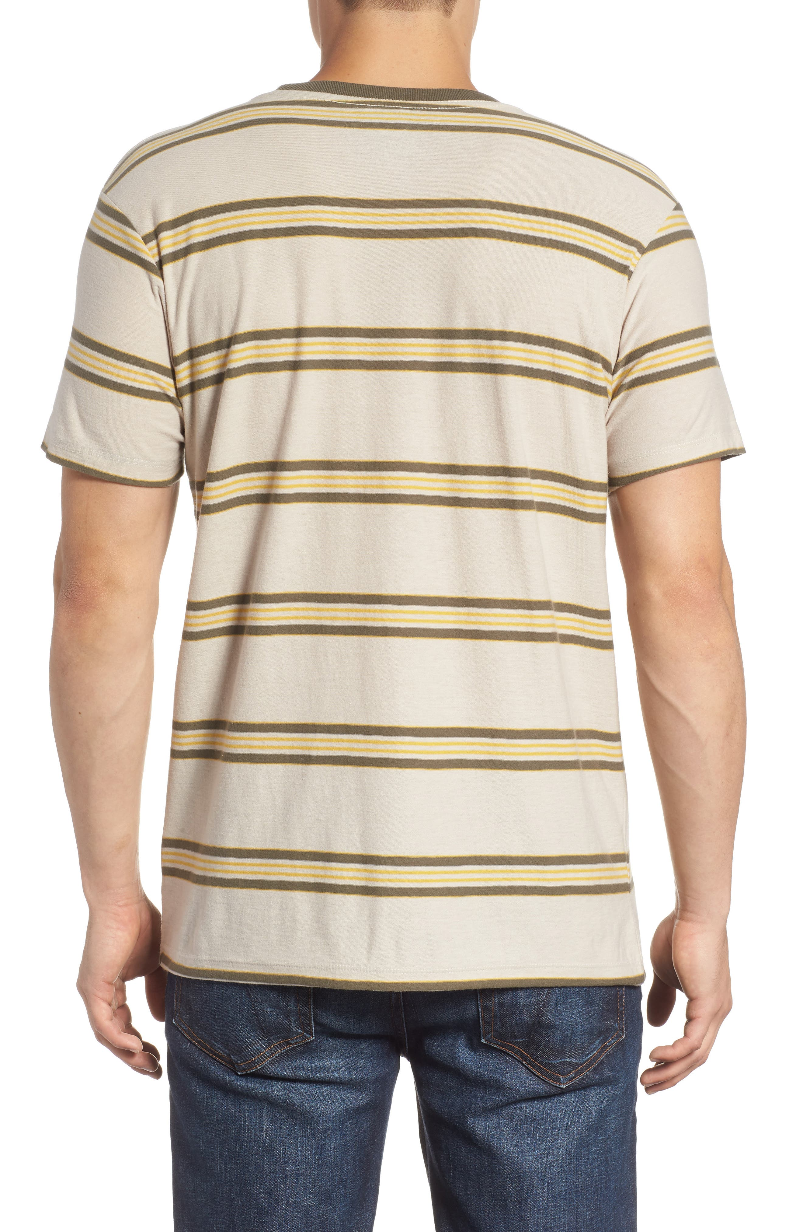 Die Cut Stripe T-Shirt,                             Alternate thumbnail 2, color,                             STONE