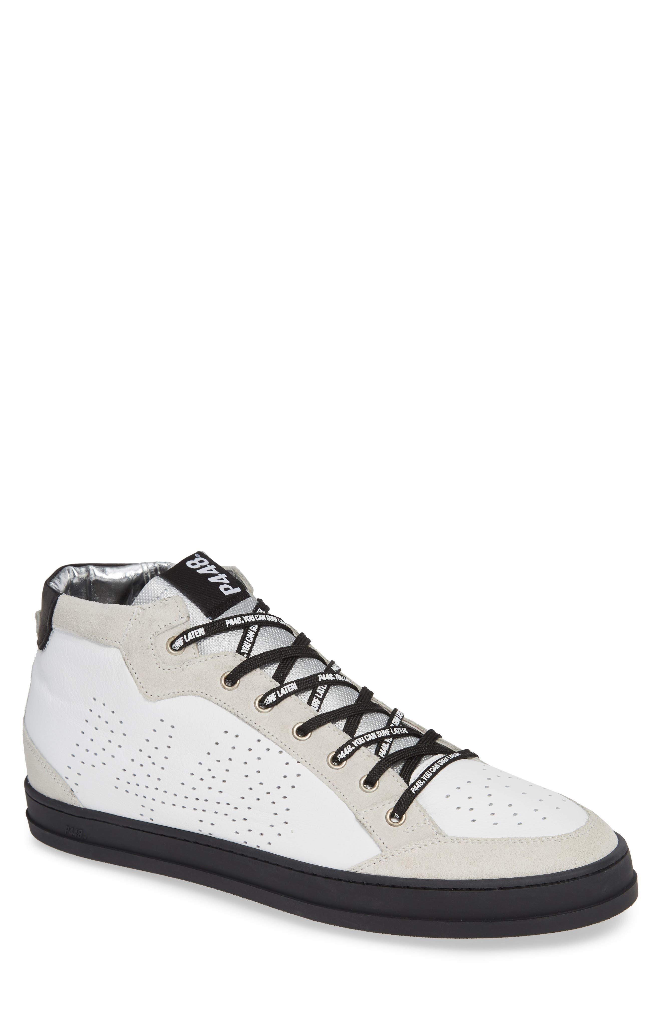 A8Love Mid Top Sneaker,                         Main,                         color, WHITE/ BLACK