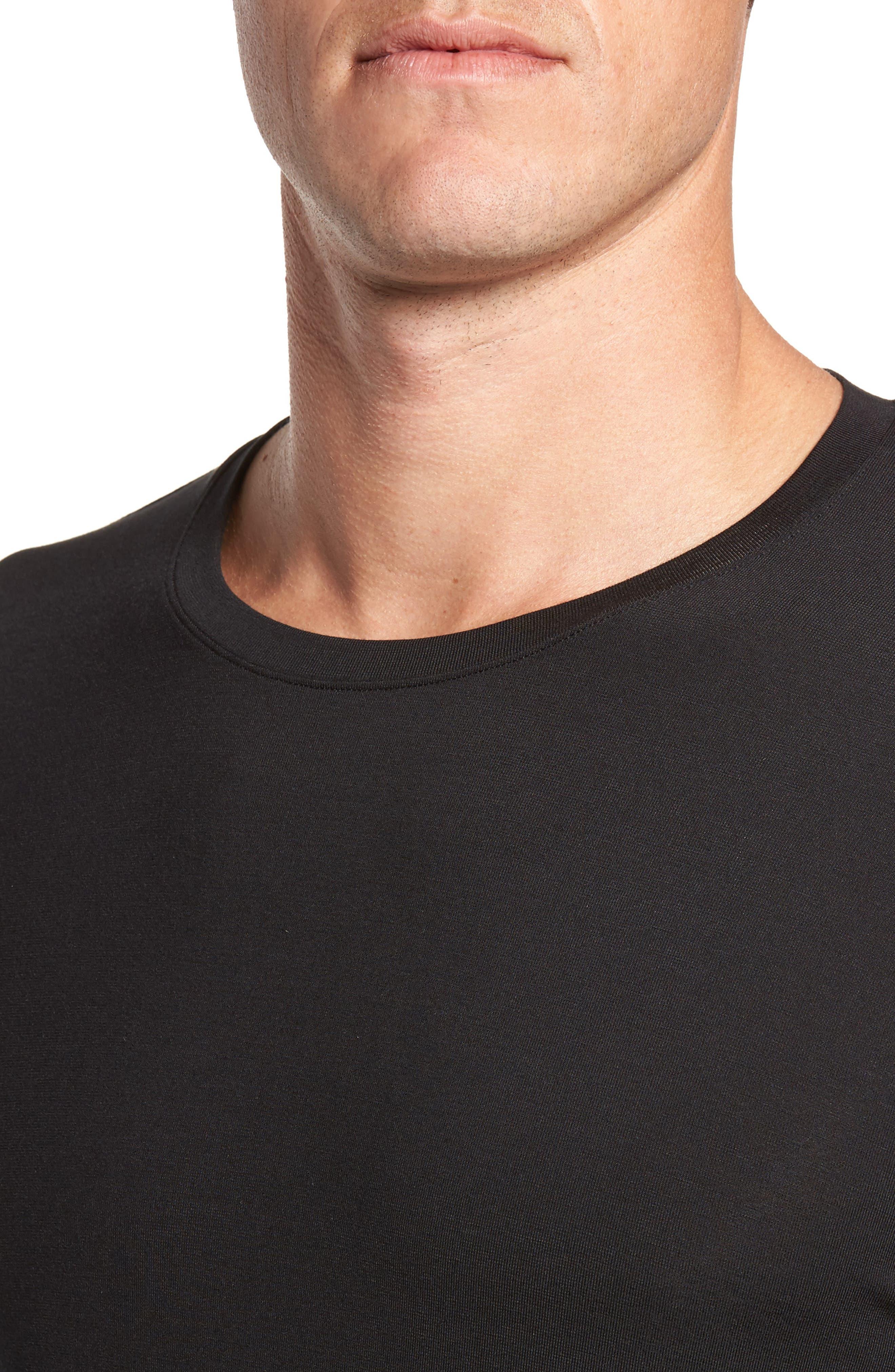 Second Skin T-Shirt,                             Alternate thumbnail 4, color,                             BLACK