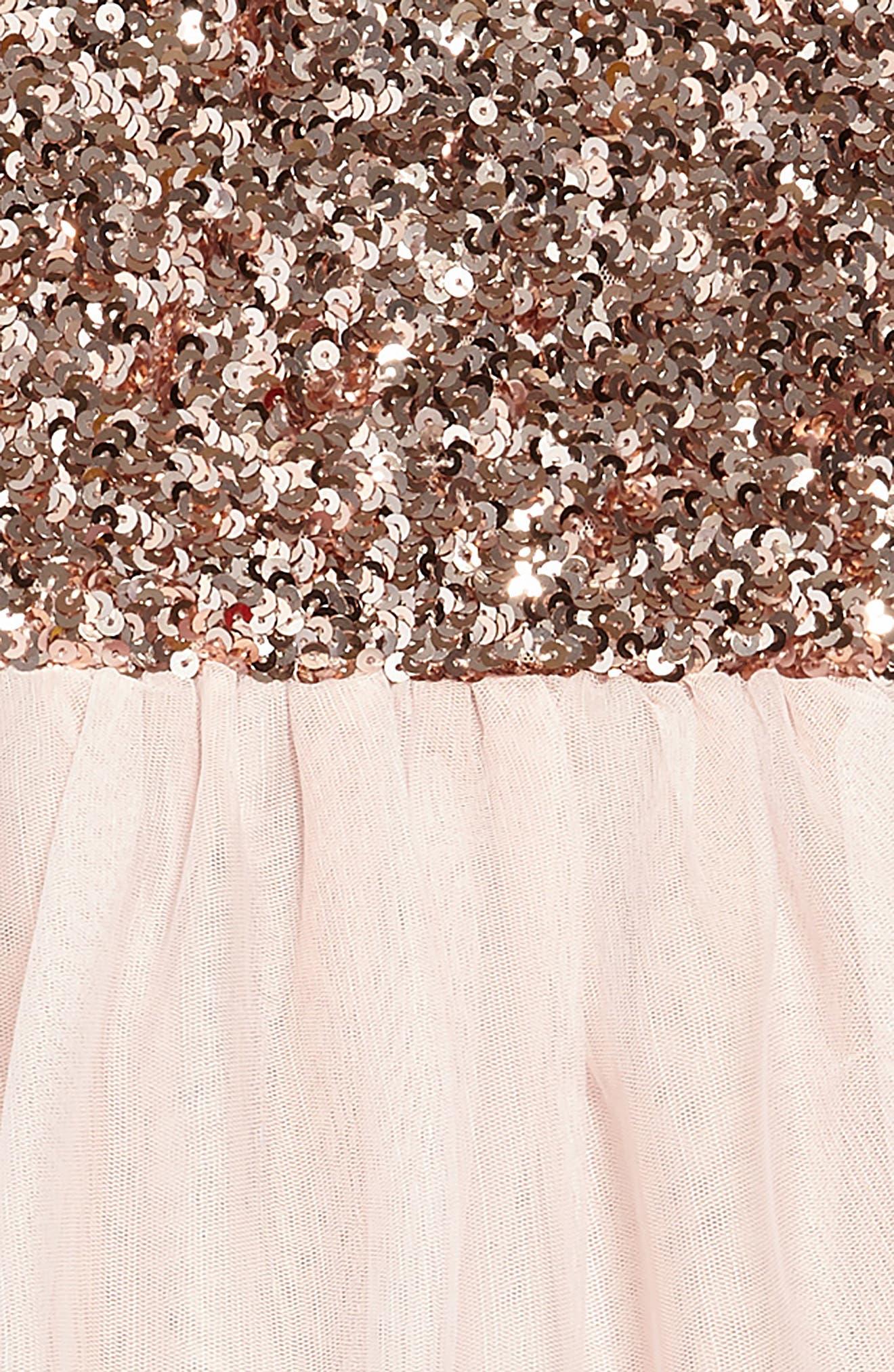Sequin Tiered Tutu Dress,                             Alternate thumbnail 3, color,                             684