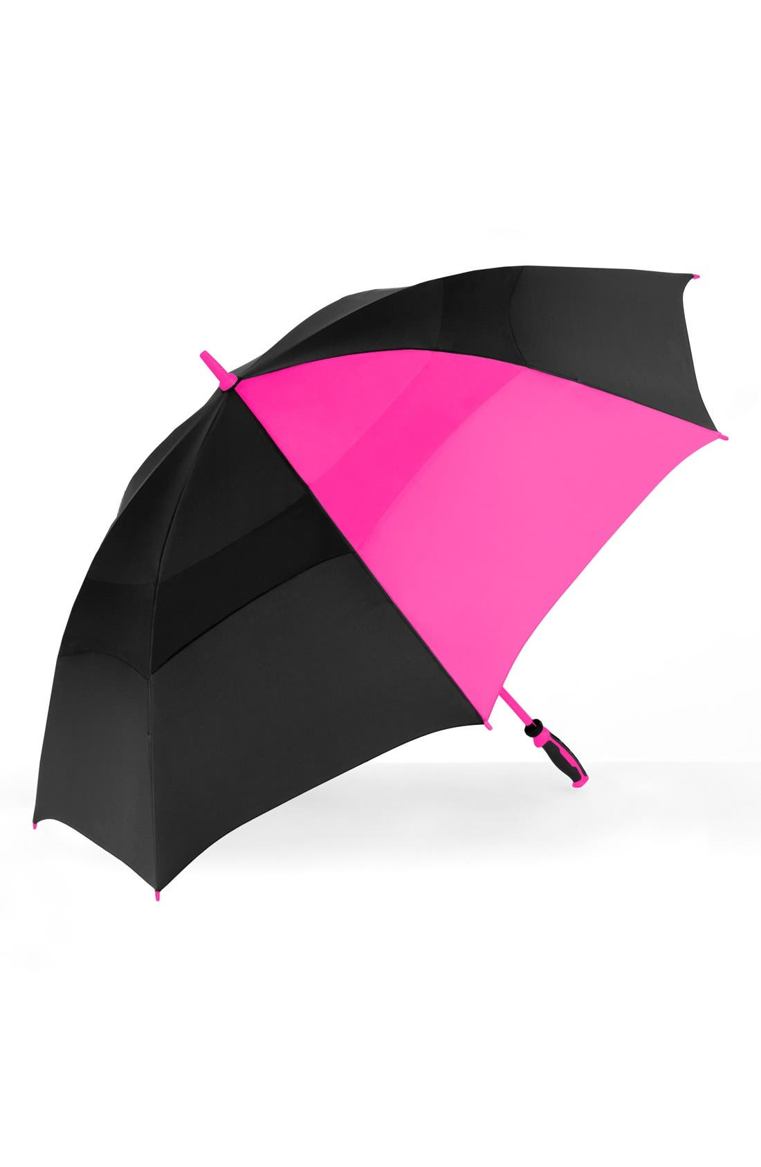 'WindJammer<sup>®</sup>' Golf Umbrella,                             Alternate thumbnail 2, color,                             BLACK/ PINK