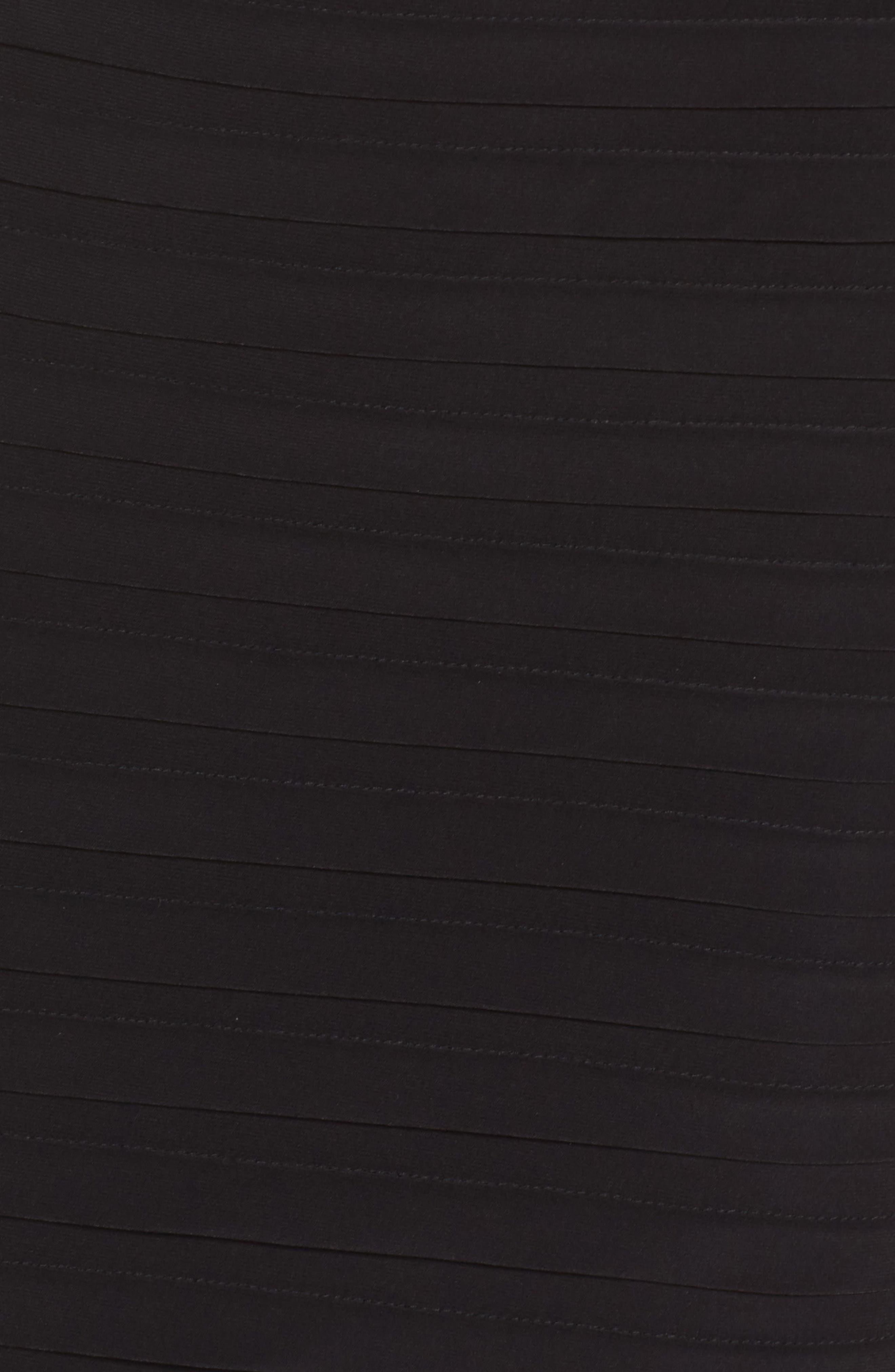 Banded Jersey Sheath Dress,                             Alternate thumbnail 5, color,                             002