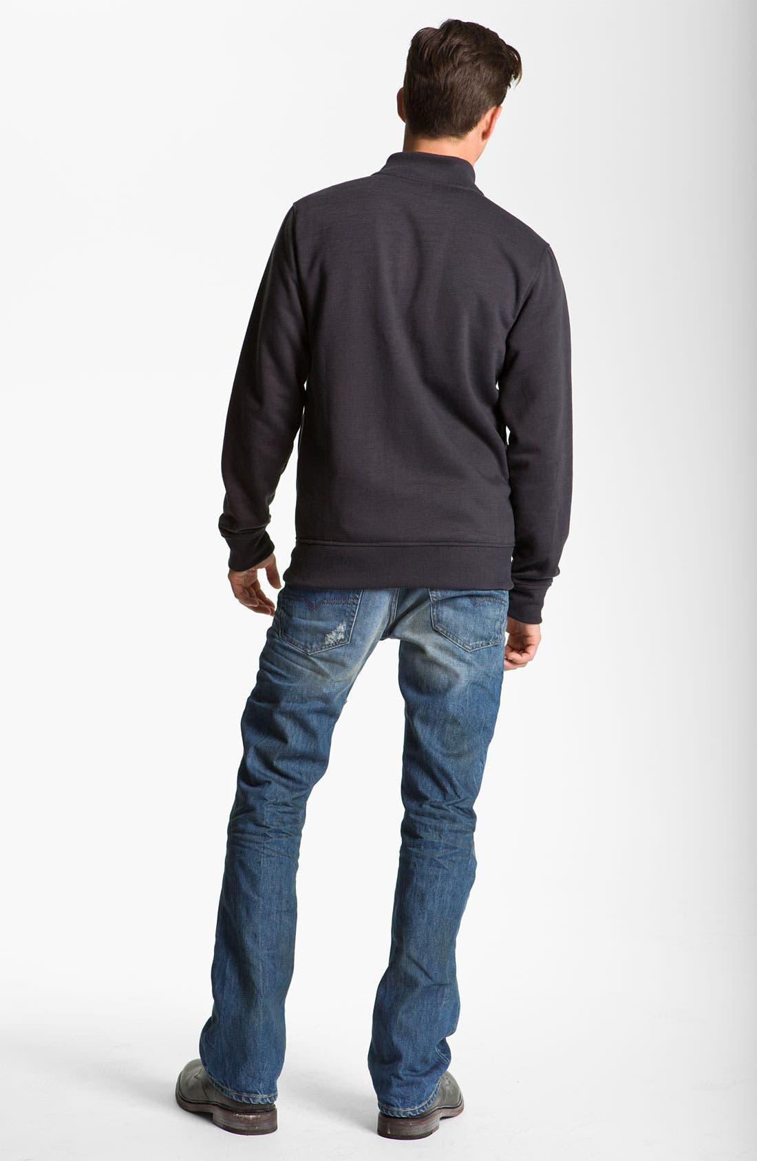 'New Fanker' Slim Bootcut Jeans,                             Alternate thumbnail 3, color,                             400