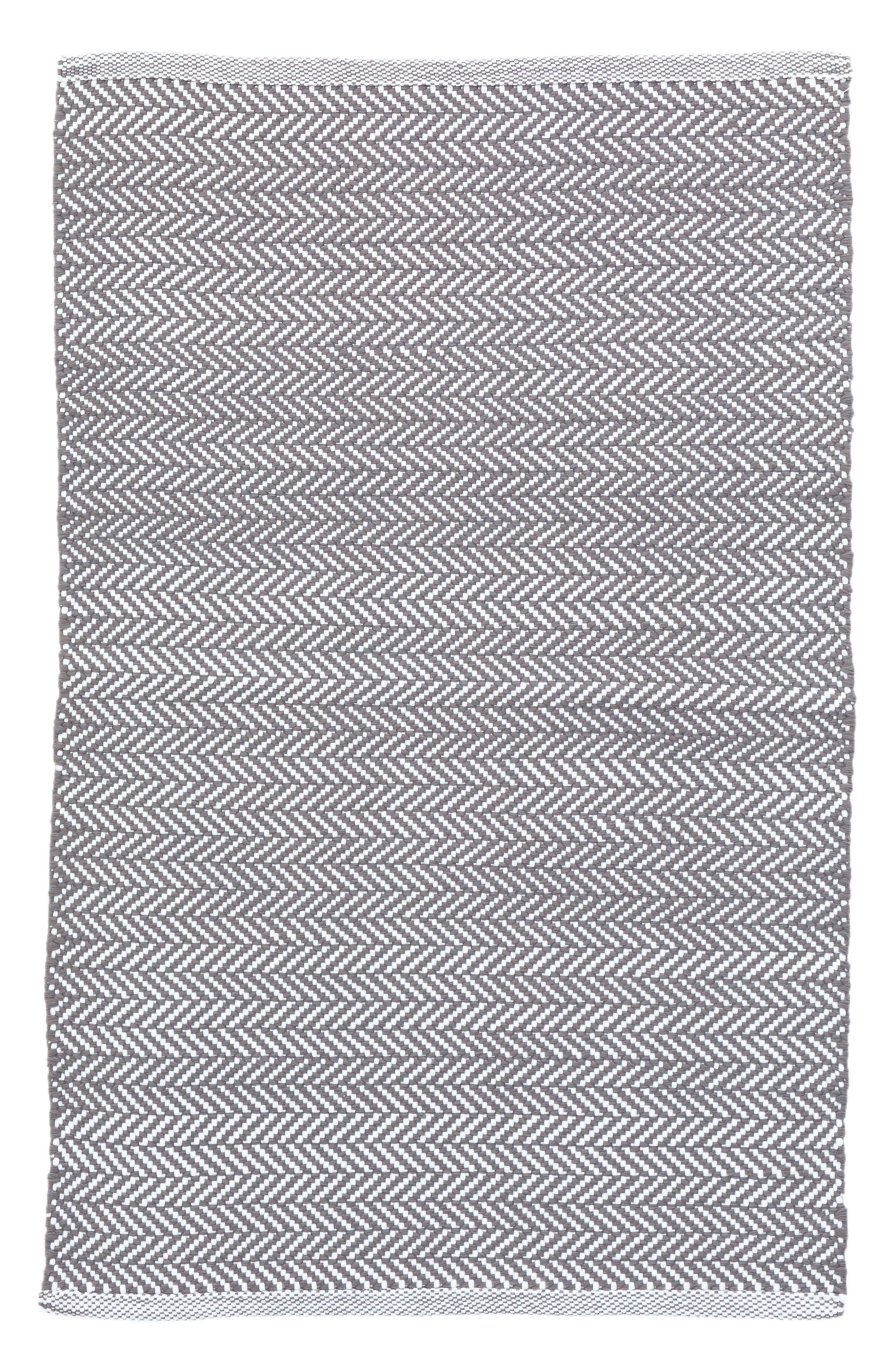 Herringbone Indoor/Outdoor Rug,                             Main thumbnail 1, color,                             GREY