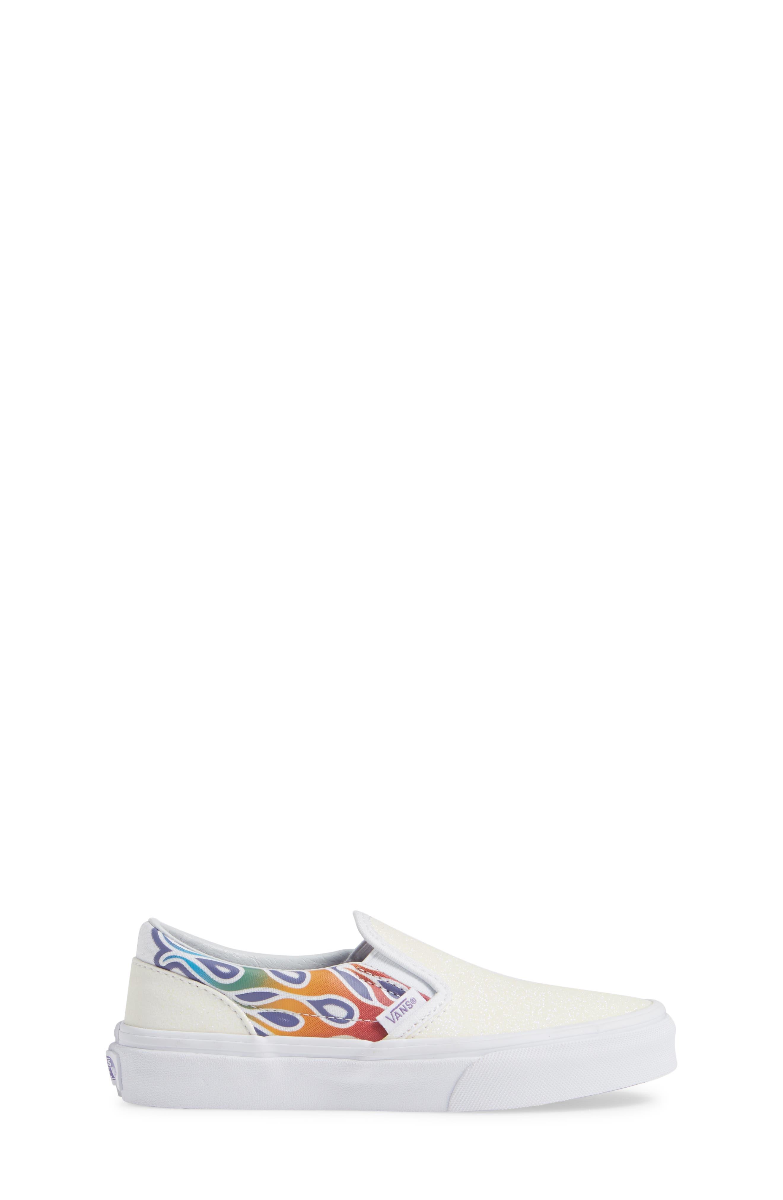 VANS,                             Classic Slip-On Glitter Sneaker,                             Alternate thumbnail 3, color,                             110