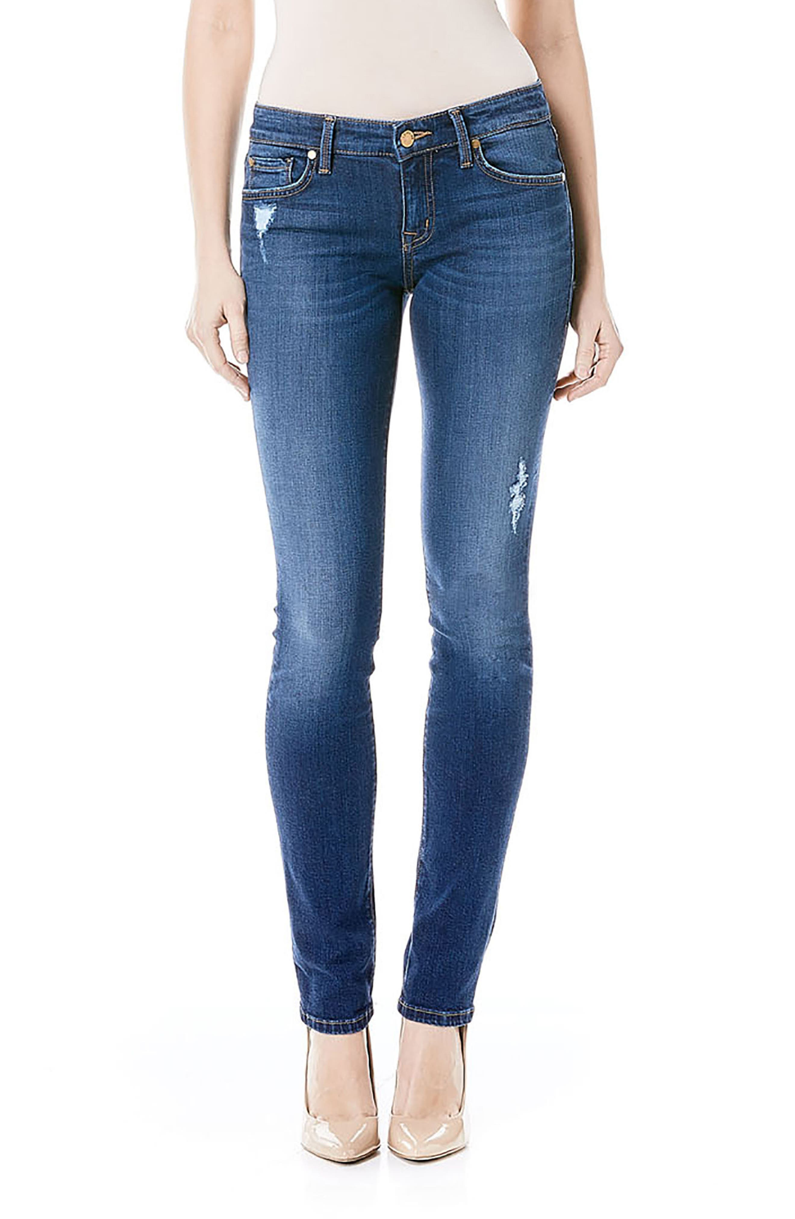 Lily Stretch Skinny Jeans,                             Main thumbnail 4, color,